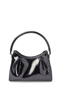 LARGE DIMPLE LEATHER PATENT BLACK OS image number 0