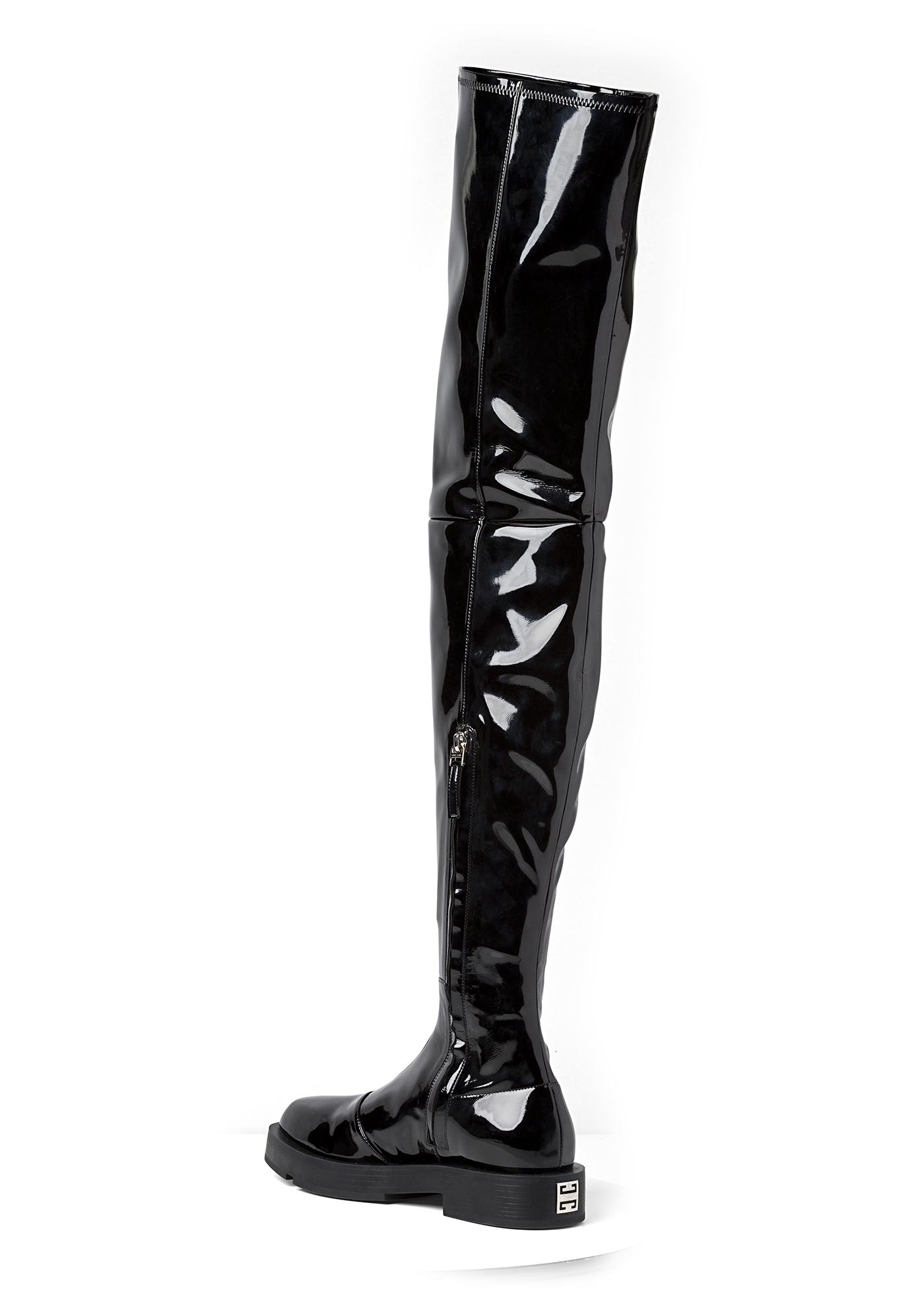 SQUARED FLAT OVER-THE-KNEE BOOT image number 2