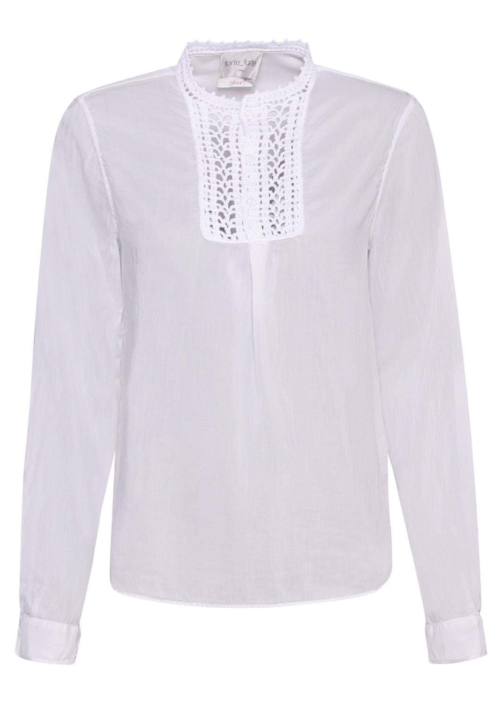 crochet plastron shirt image number 0