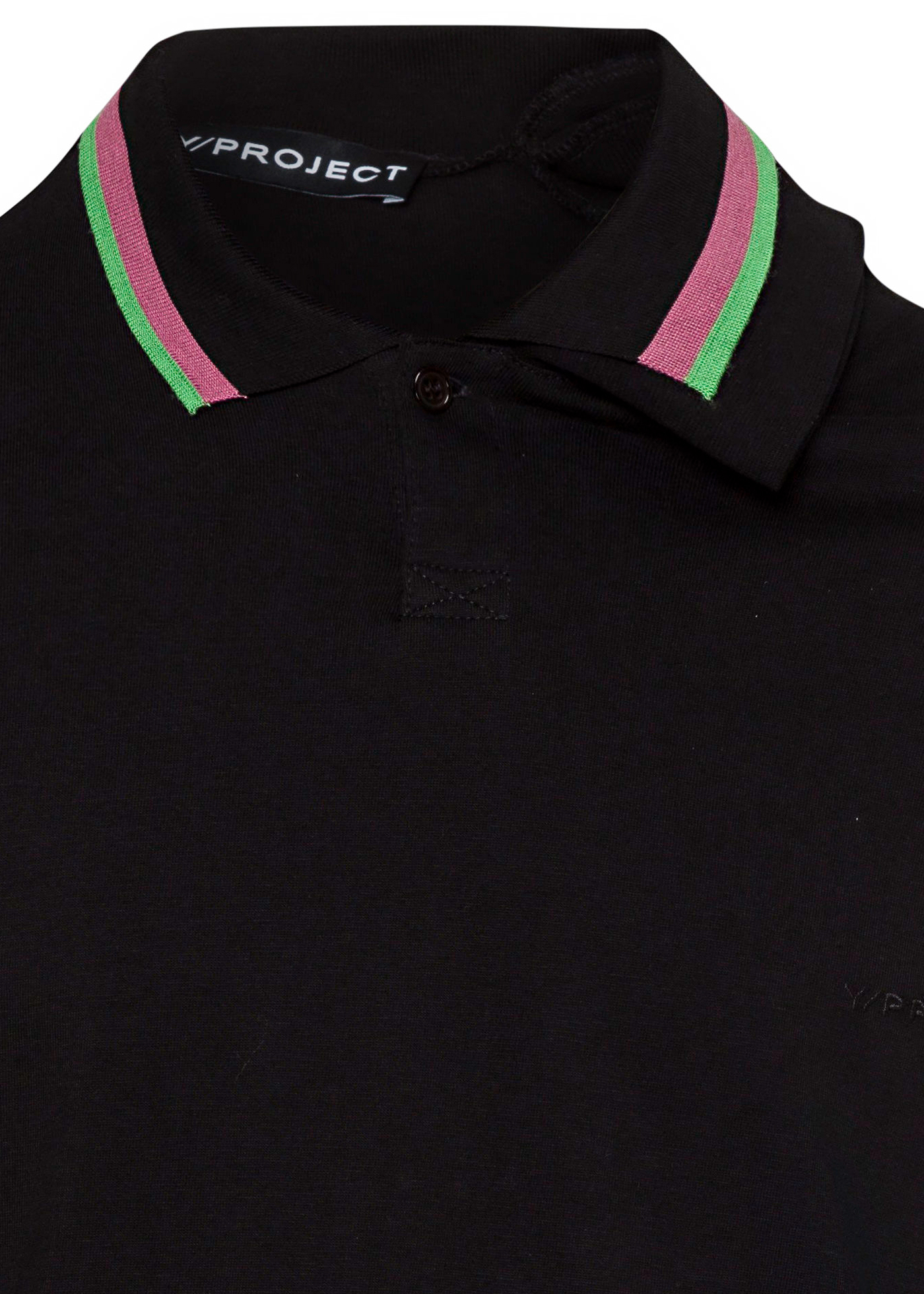 THREE NECK LONG SLEEVE POLO image number 2