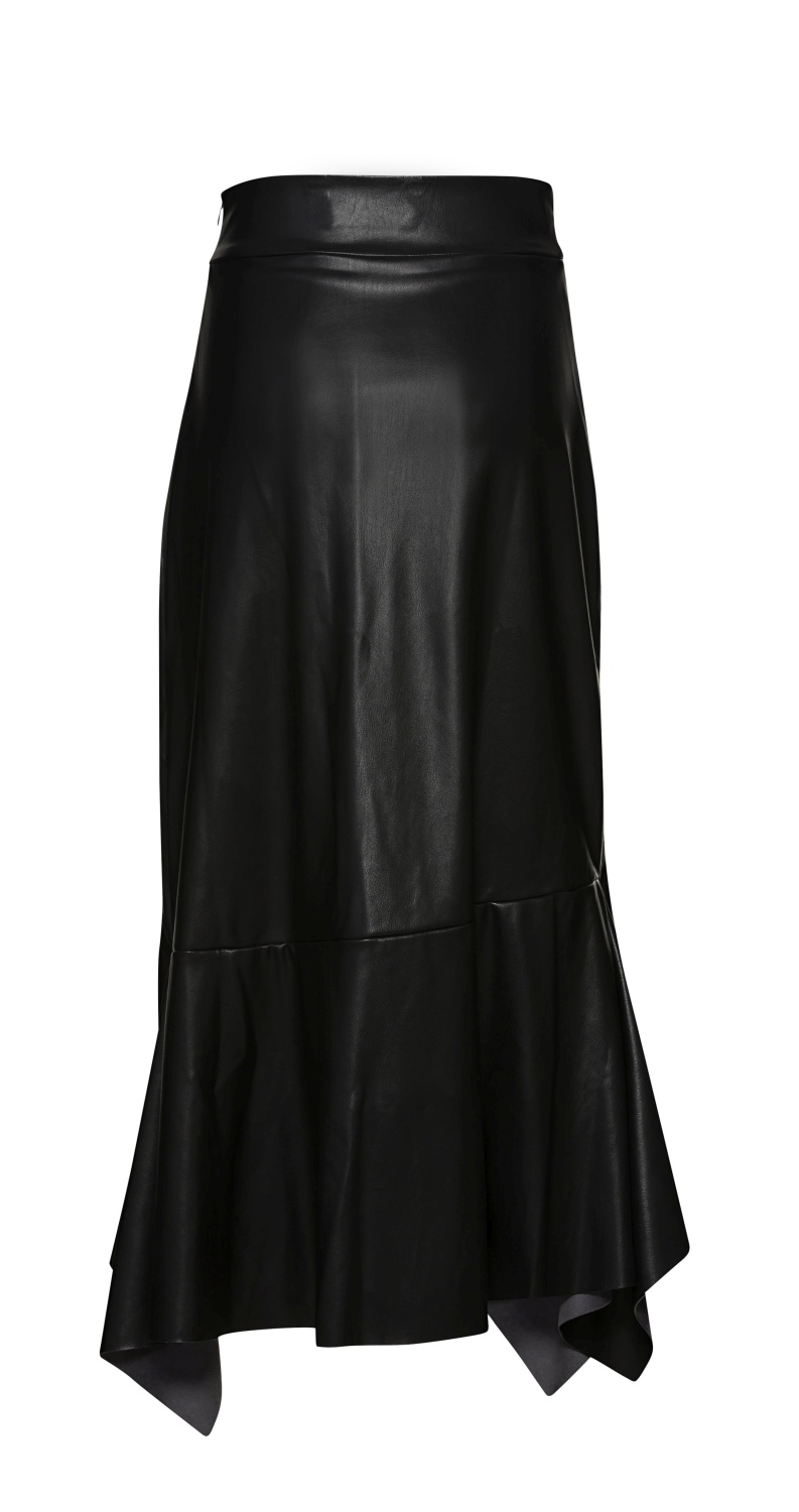 HIGH WAIST SKIRT WITH VOLANTS image number 1