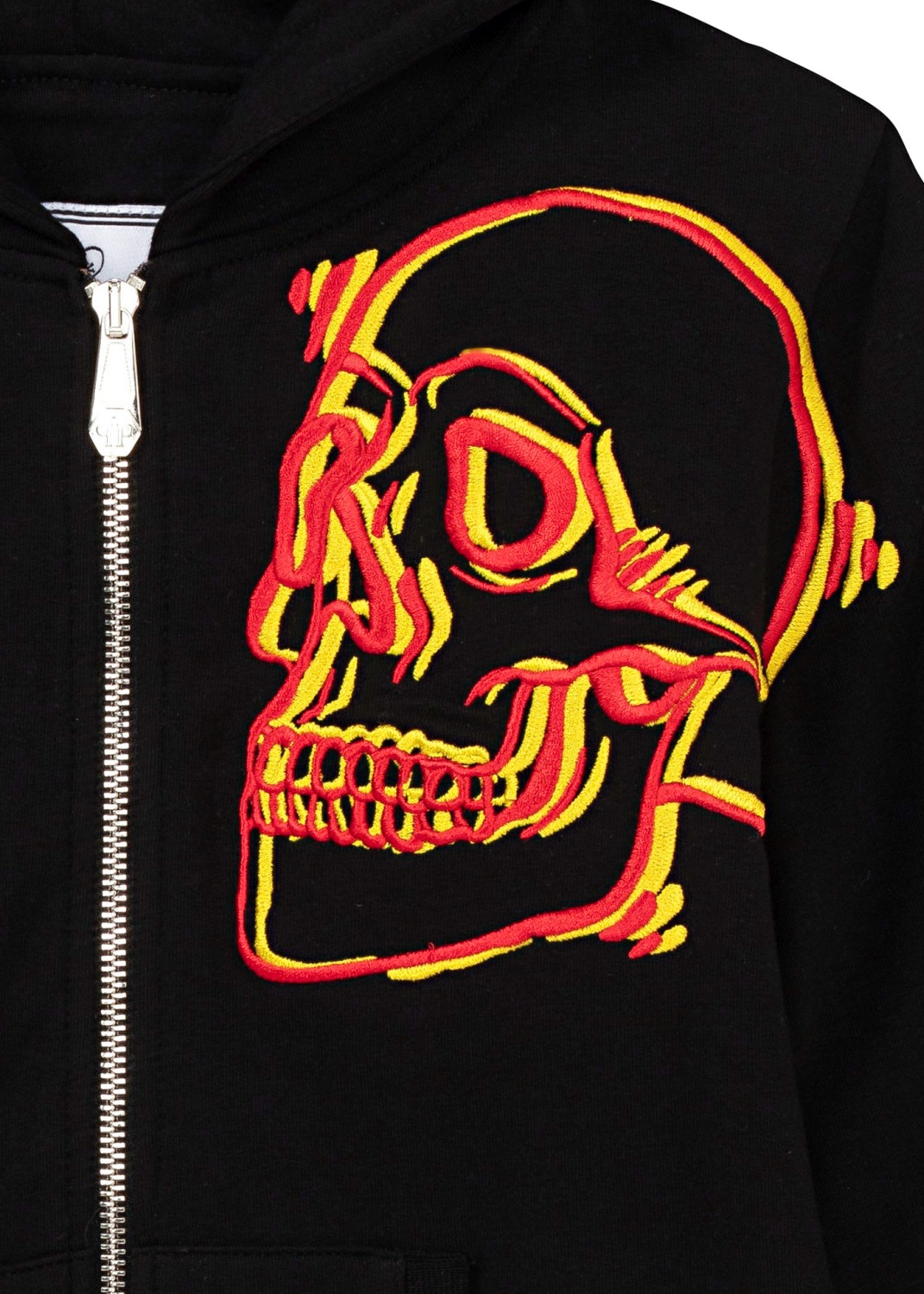 New Embroided Skull Zip jacket image number 2