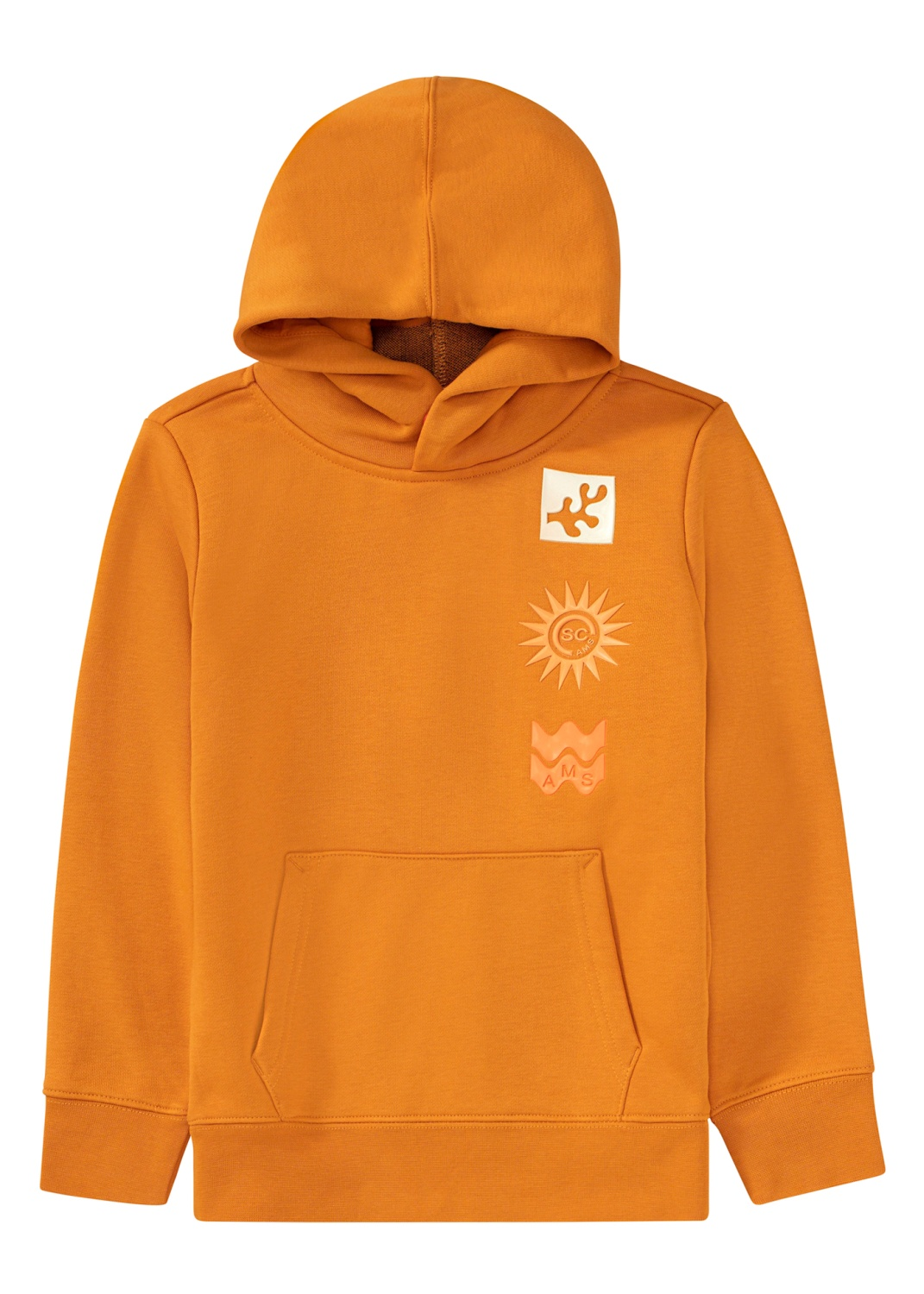 Hoodie with artwork and inner rib collar image number 0