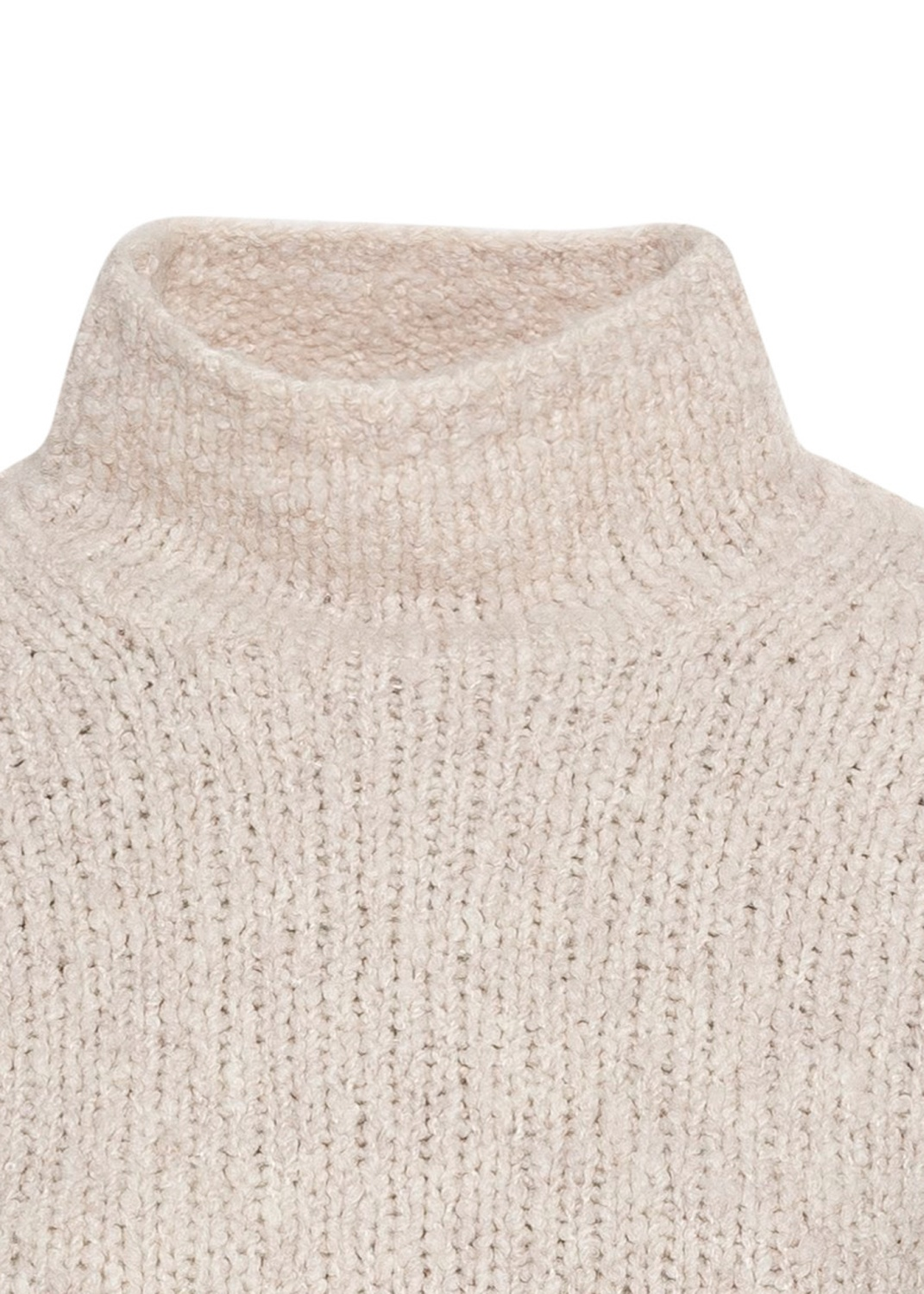 TEXTURED FUNNEL NK PULLOVER image number 2
