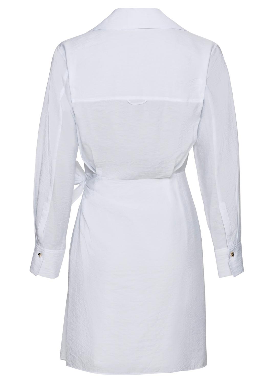L/S WRAP SHIRT DRESS image number 1