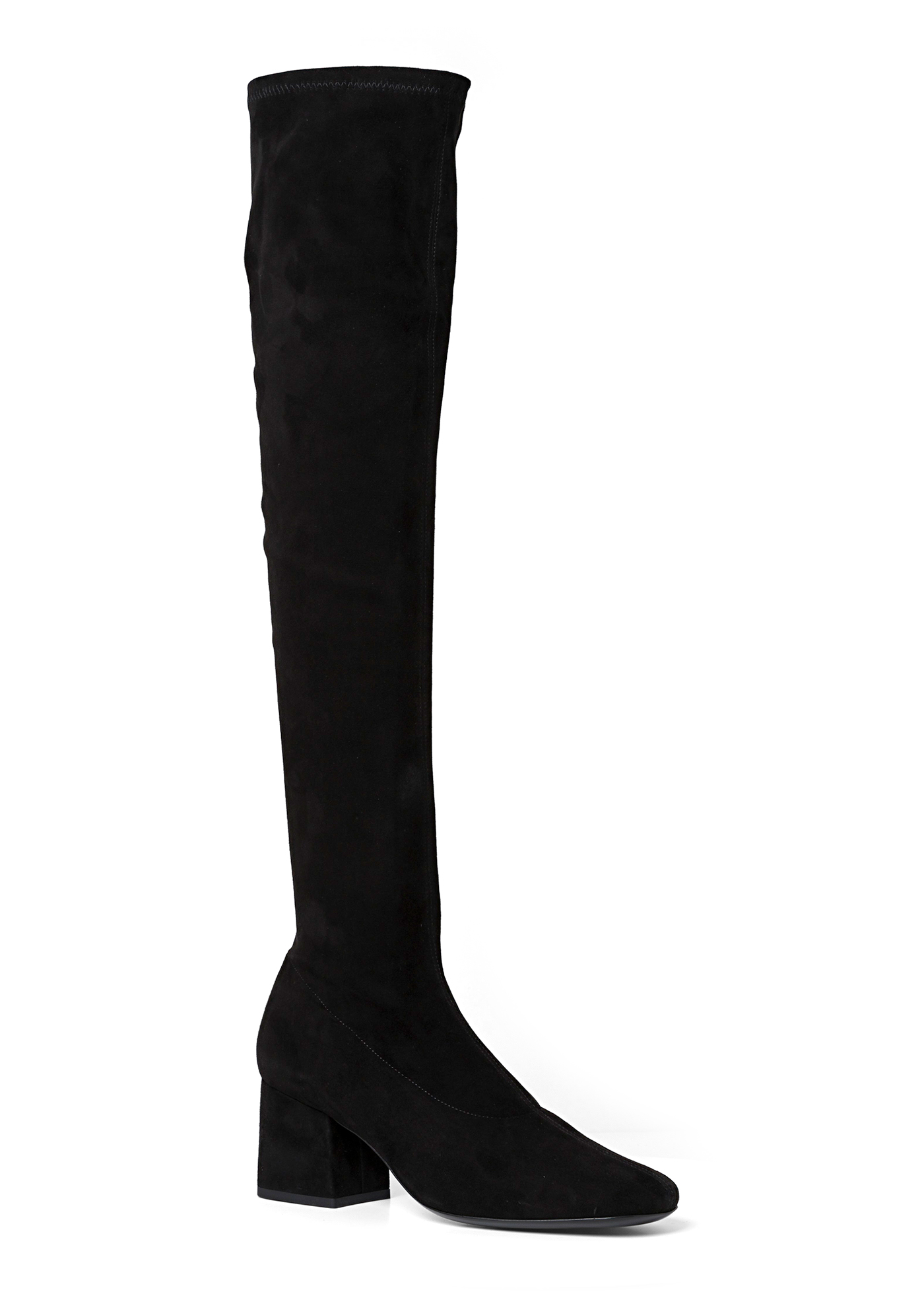 CARLOS 42 BLACK STRETCH SUEDE LEATHER image number 1