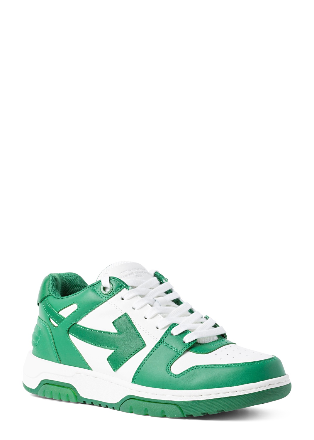 OUT OF OFFICE CALF LEATHER WHITE GREEN image number 1