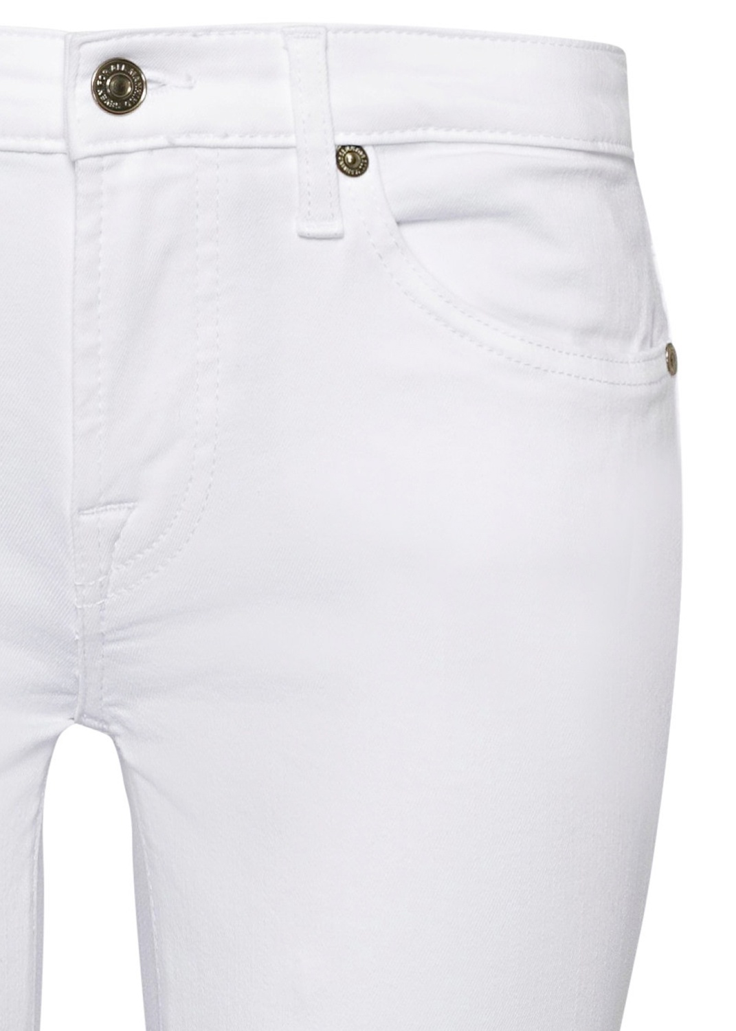 PYPER CROP Slim Illusion Pure White with Raw Cut Frayed image number 2