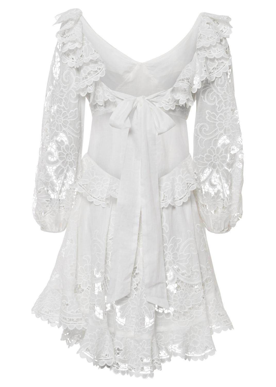 Lulu Scallop Mini Dress image number 1