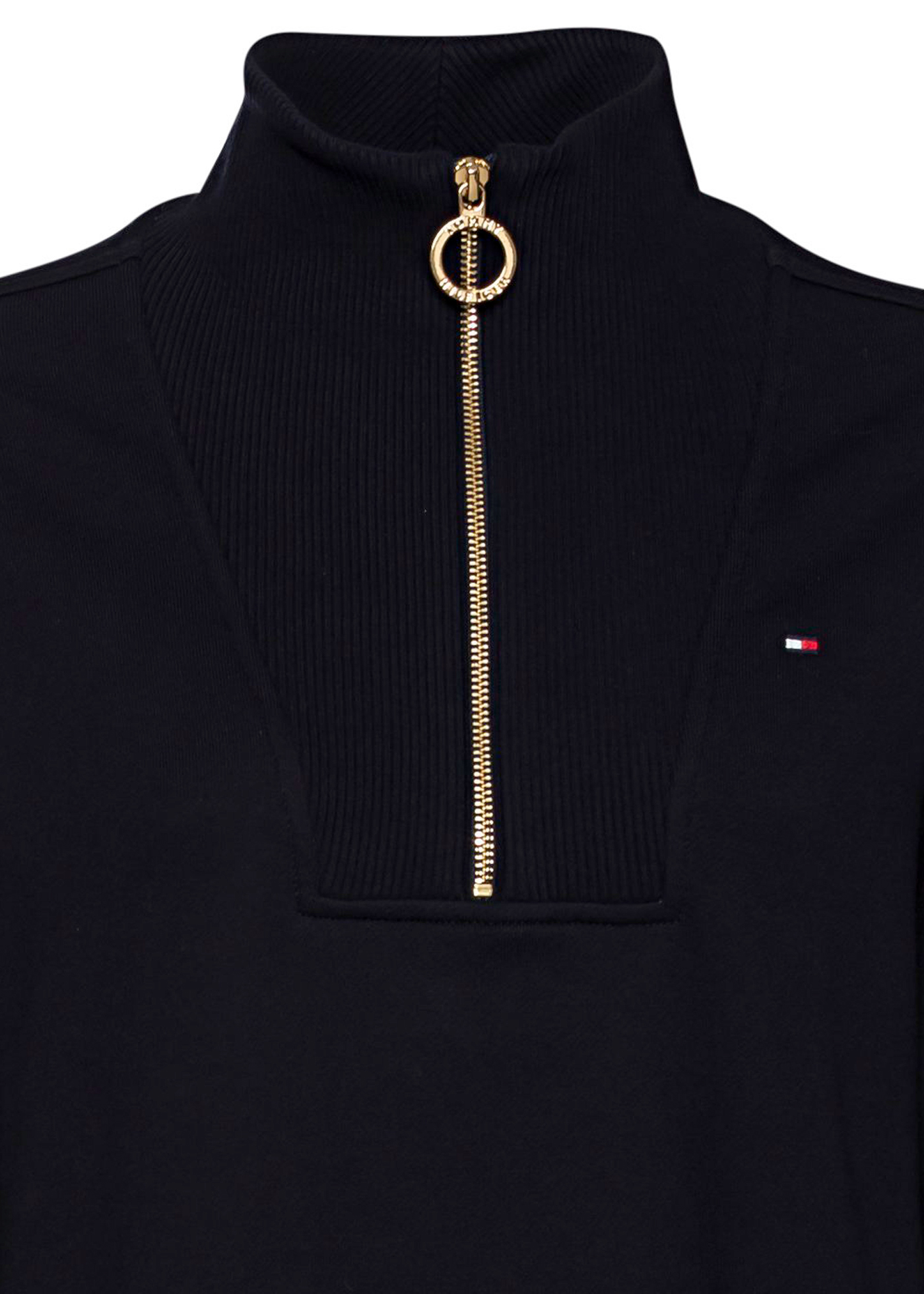 RELAXED HALF-ZIP MIDI DRESS LS image number 2