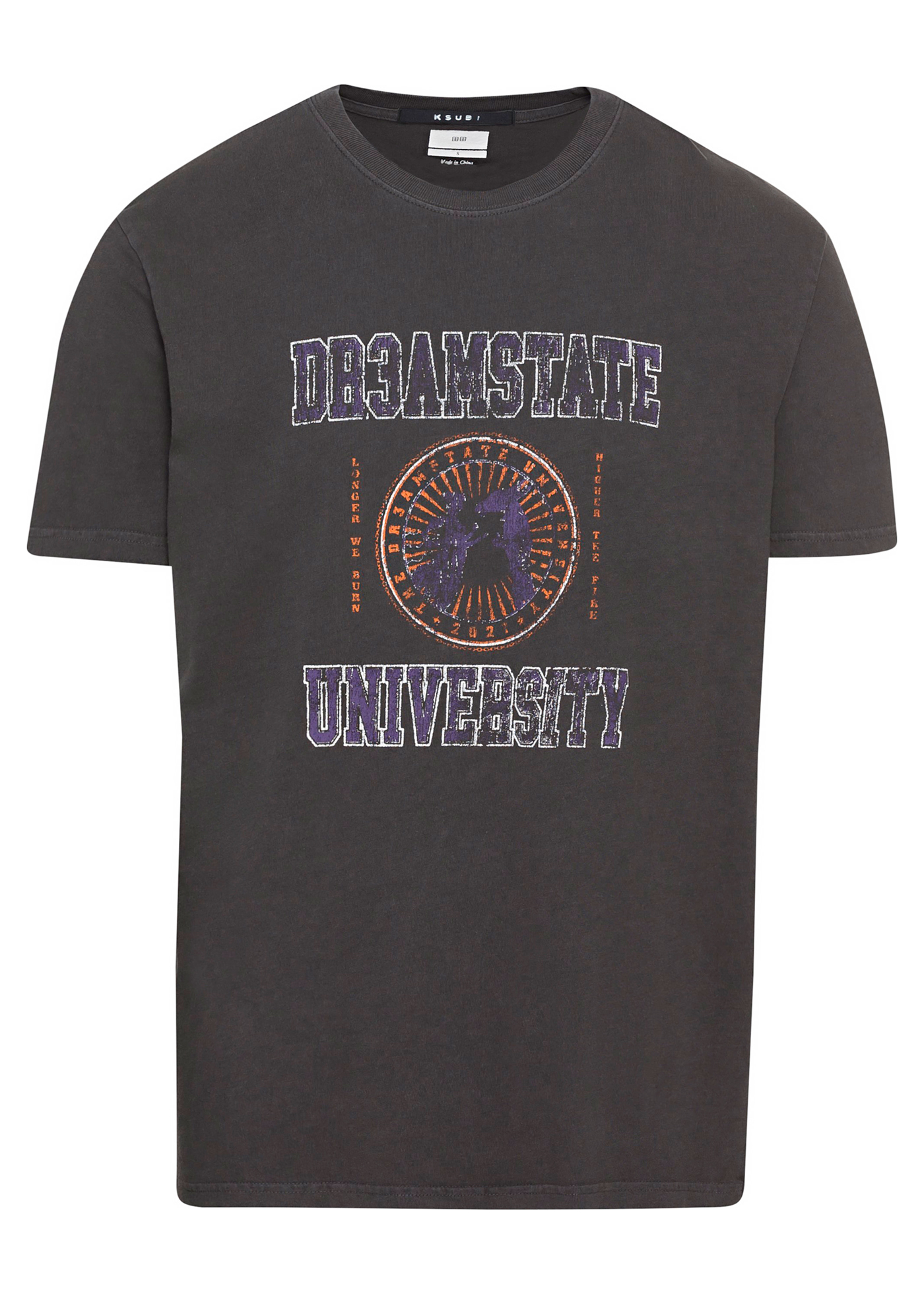 university kash ss tee charcoal image number 0