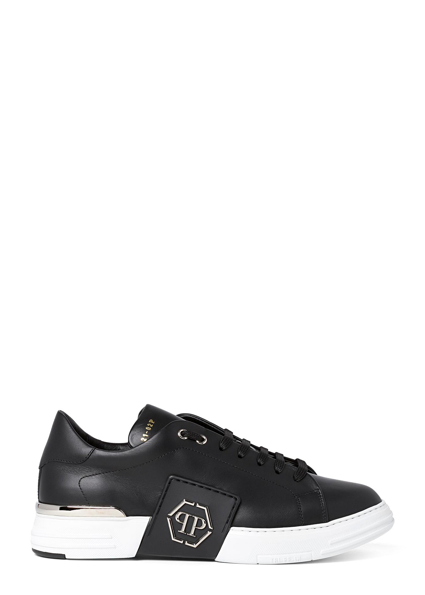Leather Lo-Top Sneakers metal Phantom Platinum image number 0