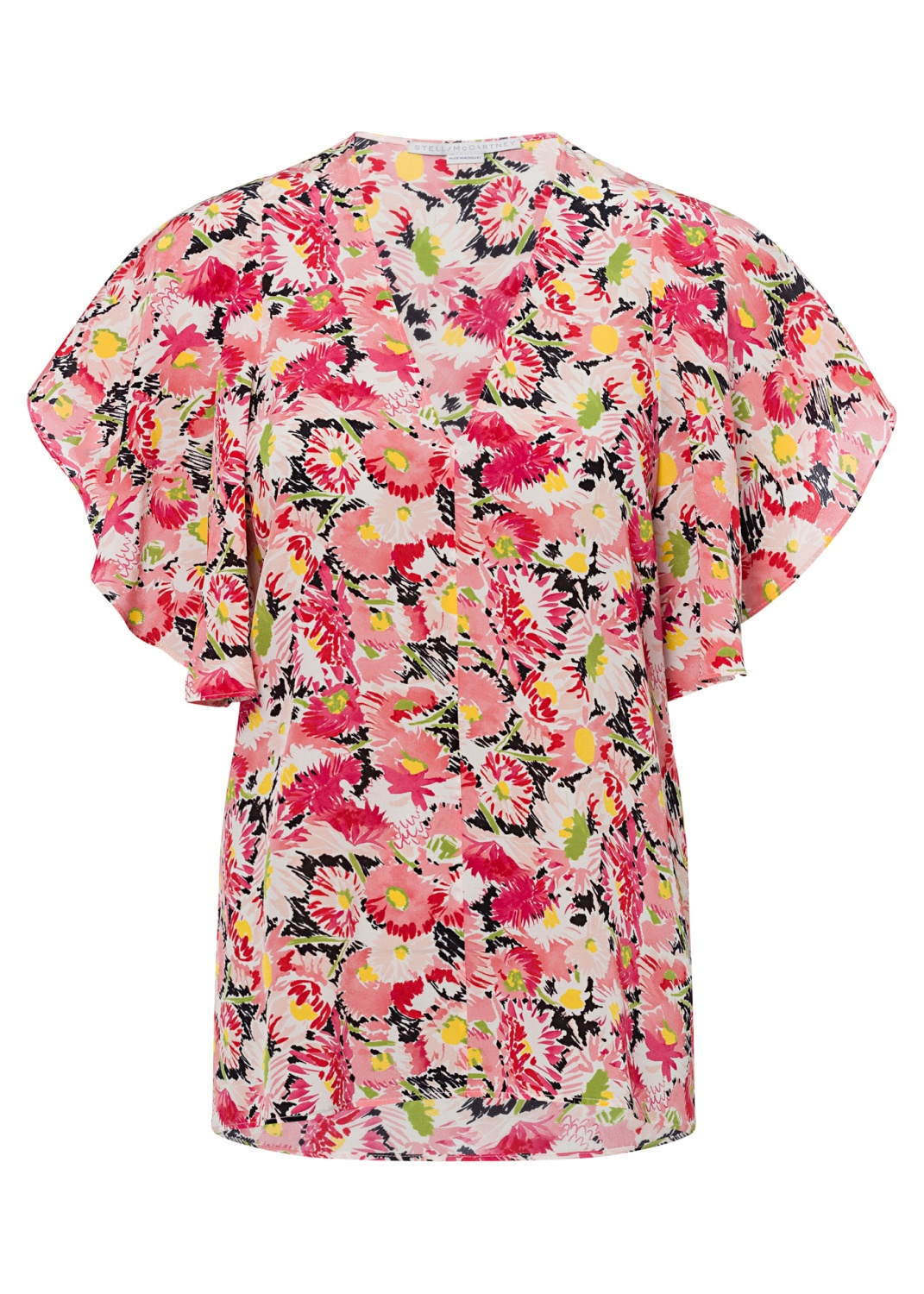 Mallory Top Watercolor Floral Silk Print image number 0