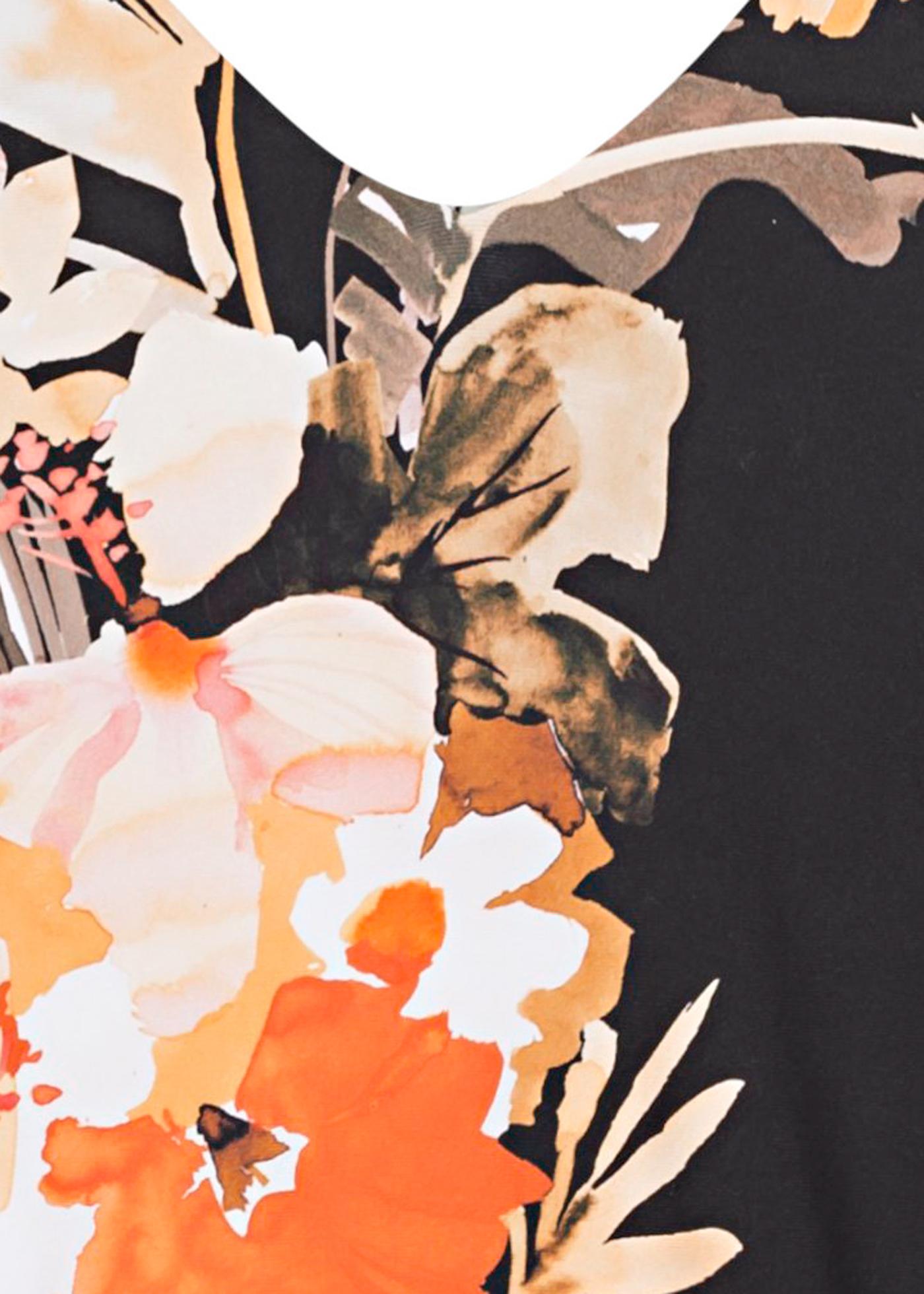 Bora Bora Flora V Neck One Piece image number 2