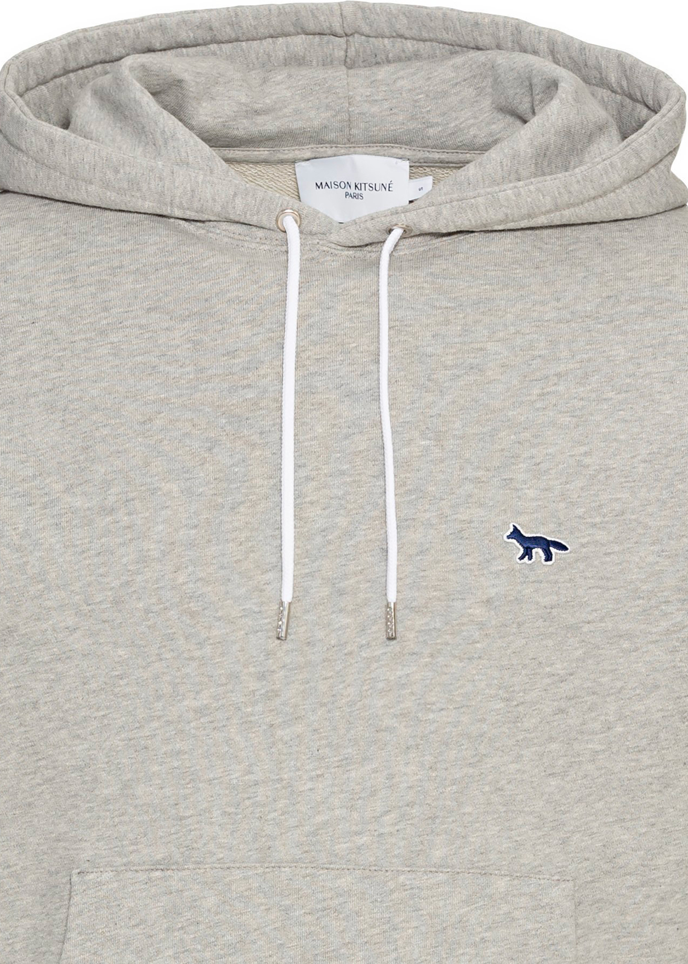 NAVY FOX PATCH CLASSIC HOODIE image number 2