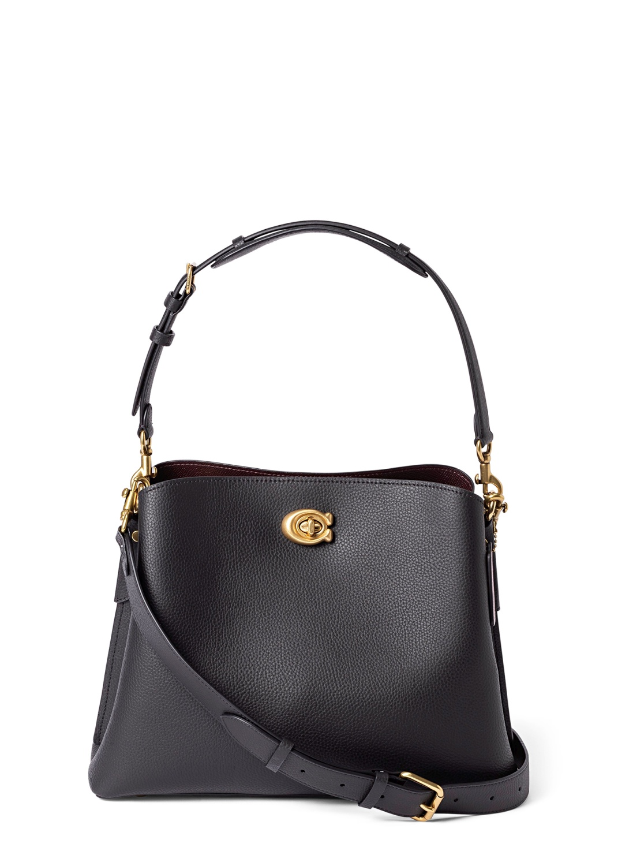 polished pebble leather willow shoulder bag image number 0