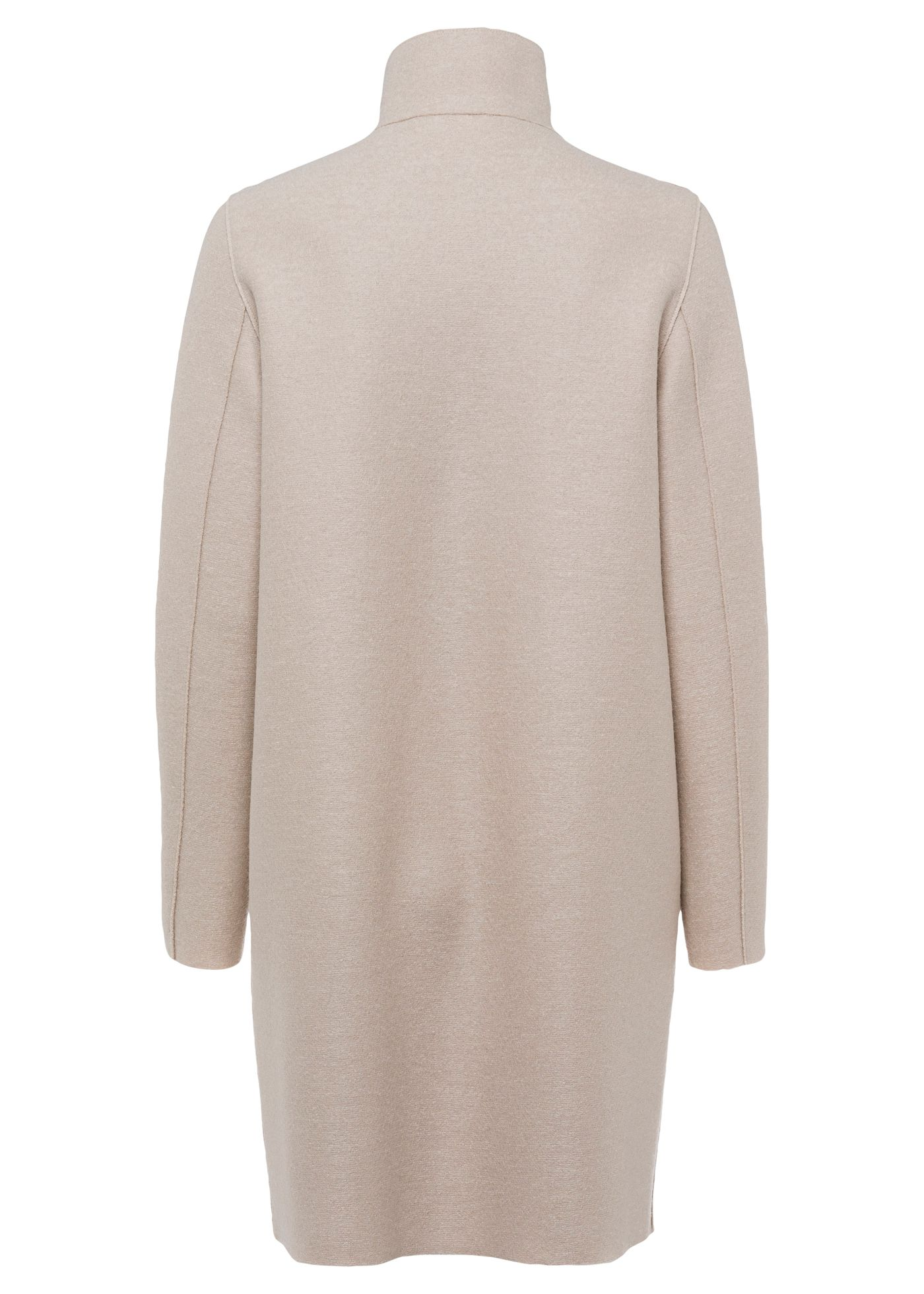 Women egg shaped coat pressed wool image number 1