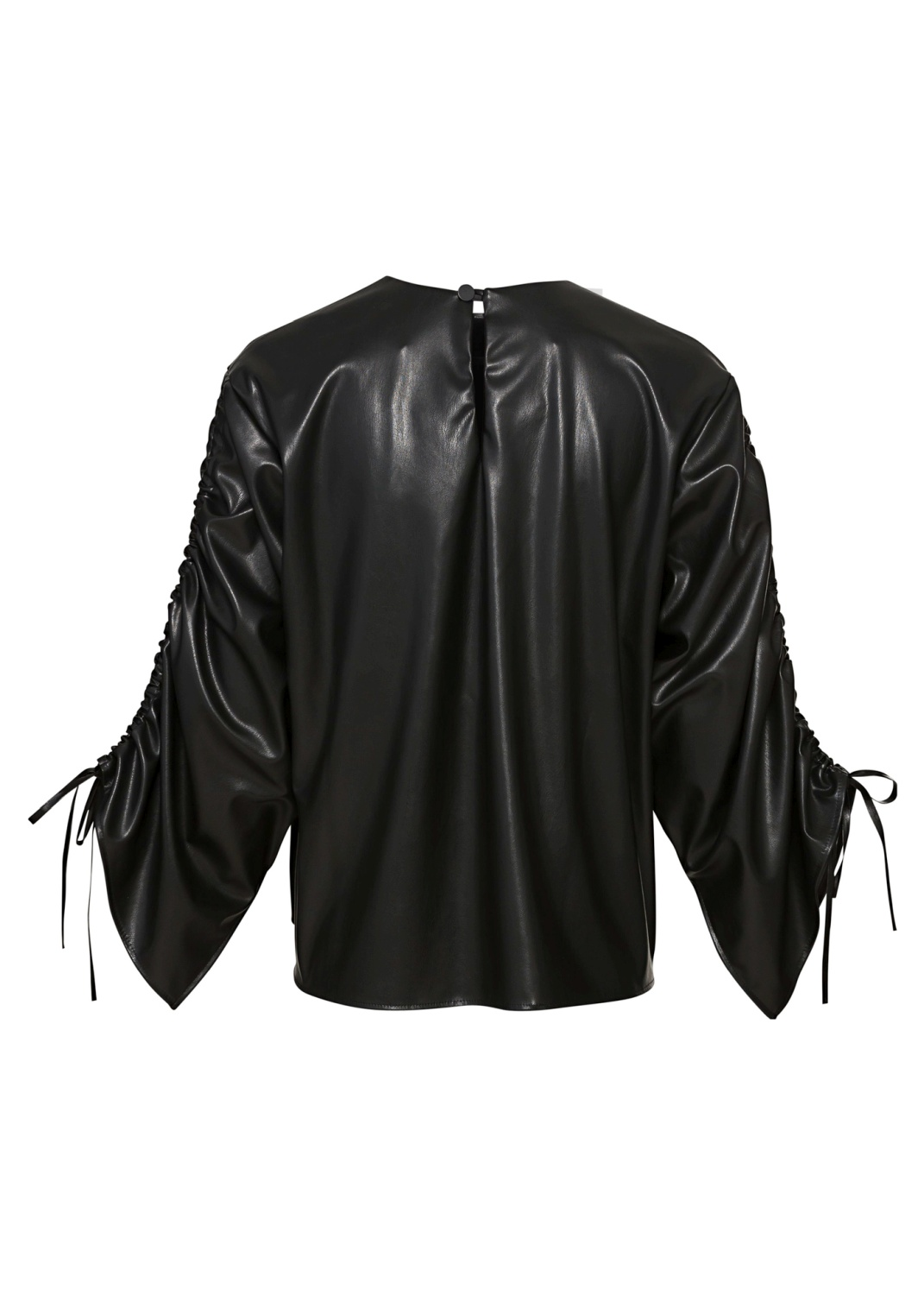 BLOUSE WITH STRINGS ON SLEEVES image number 1