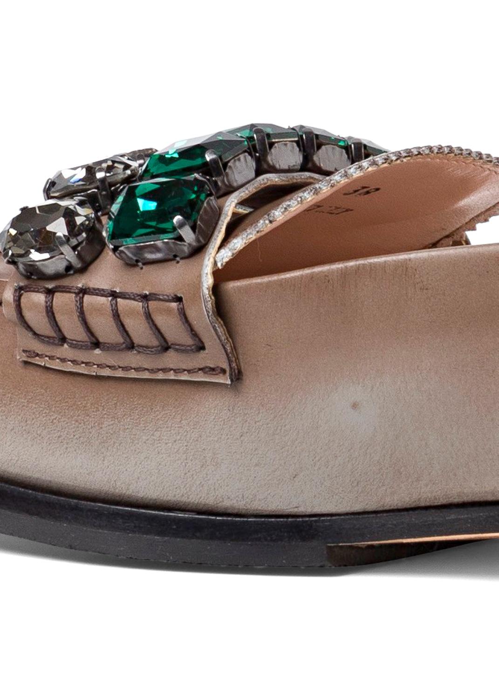 Loafer Crystals Brushed Leather image number 3