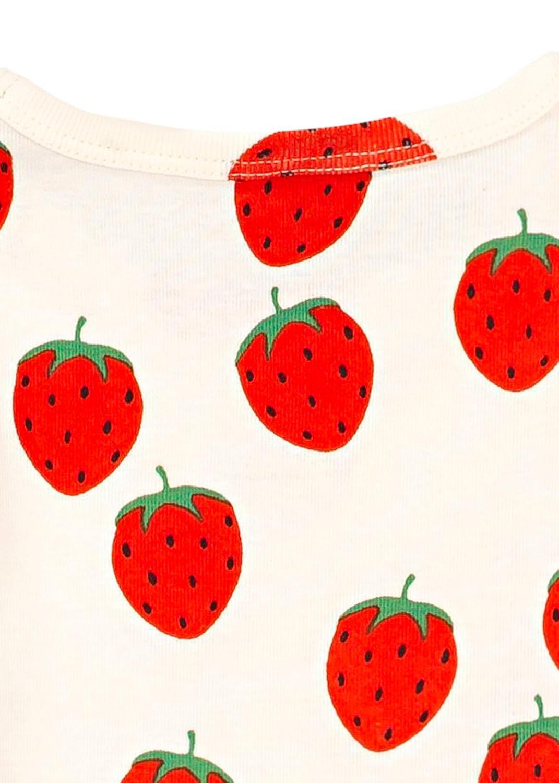 Strawberry aop ls dress image number 3