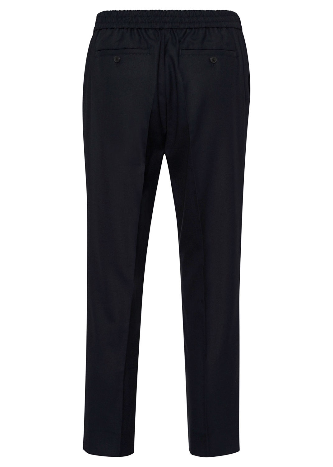 ELASTICIZED WAIST CROPPD FIT TROUSERS image number 1