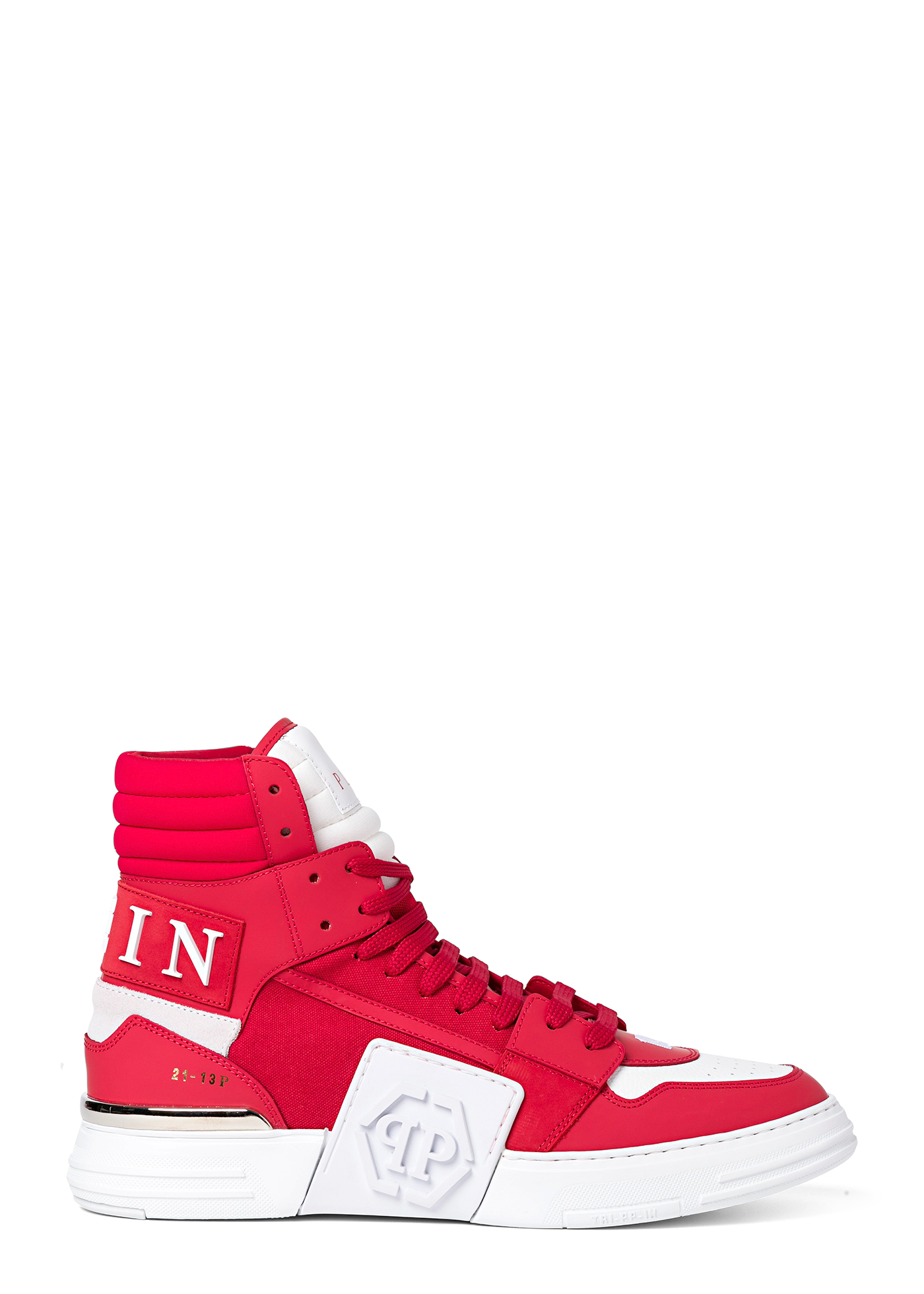 PHANTOM KICK$ Hi-Top Sneakers mix materials image number 0