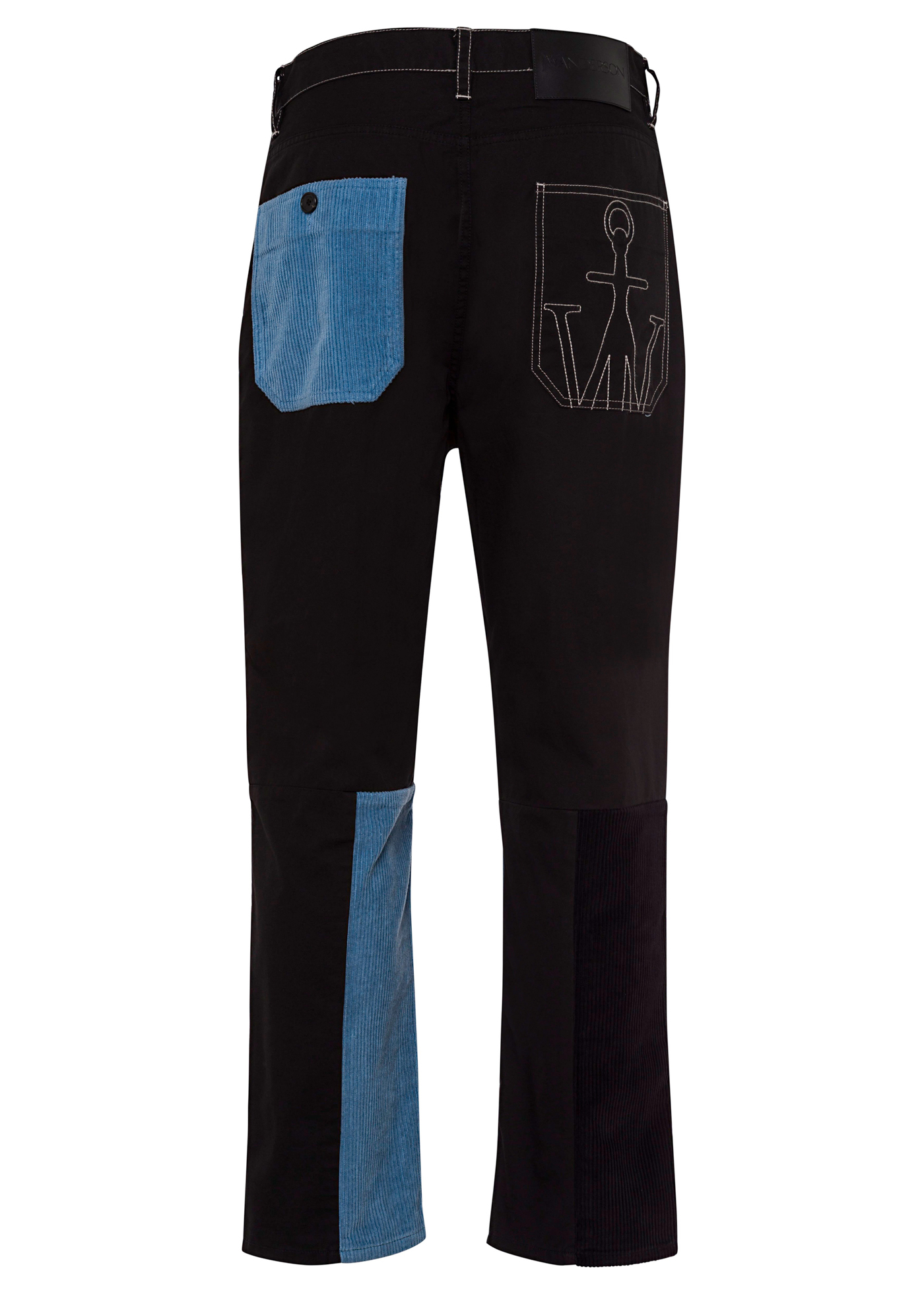CROPPED PATCHWORK FATIGUE TROUSERS image number 1