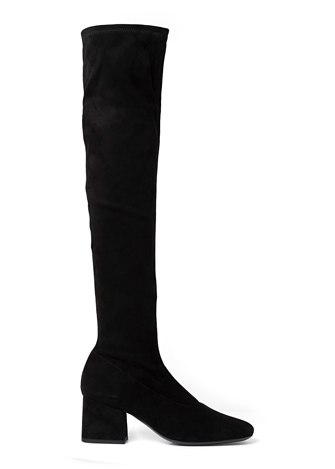 CARLOS 42 BLACK STRETCH SUEDE LEATHER image number 0