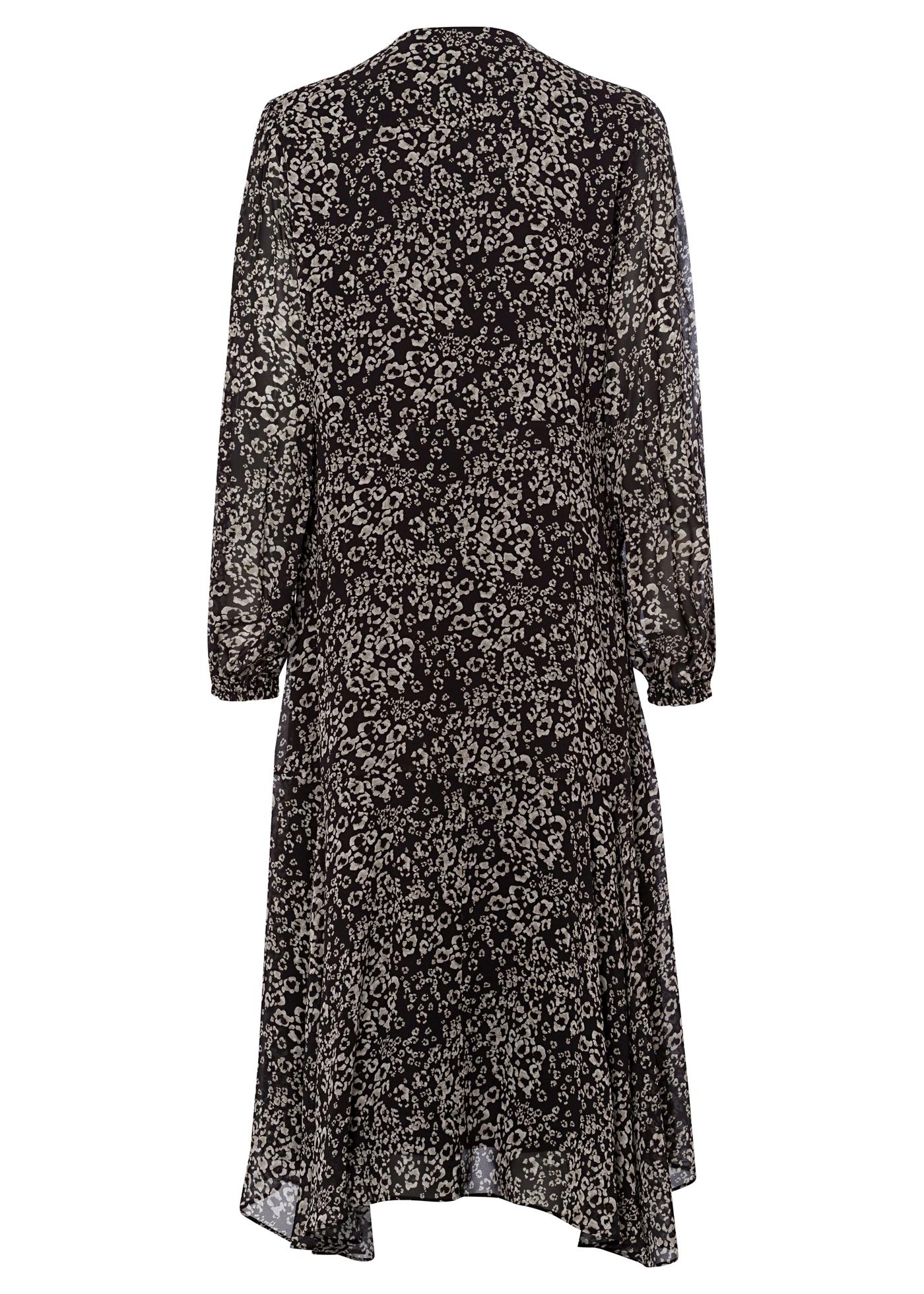 Midi-Kleid mit Animal-Print image number 1