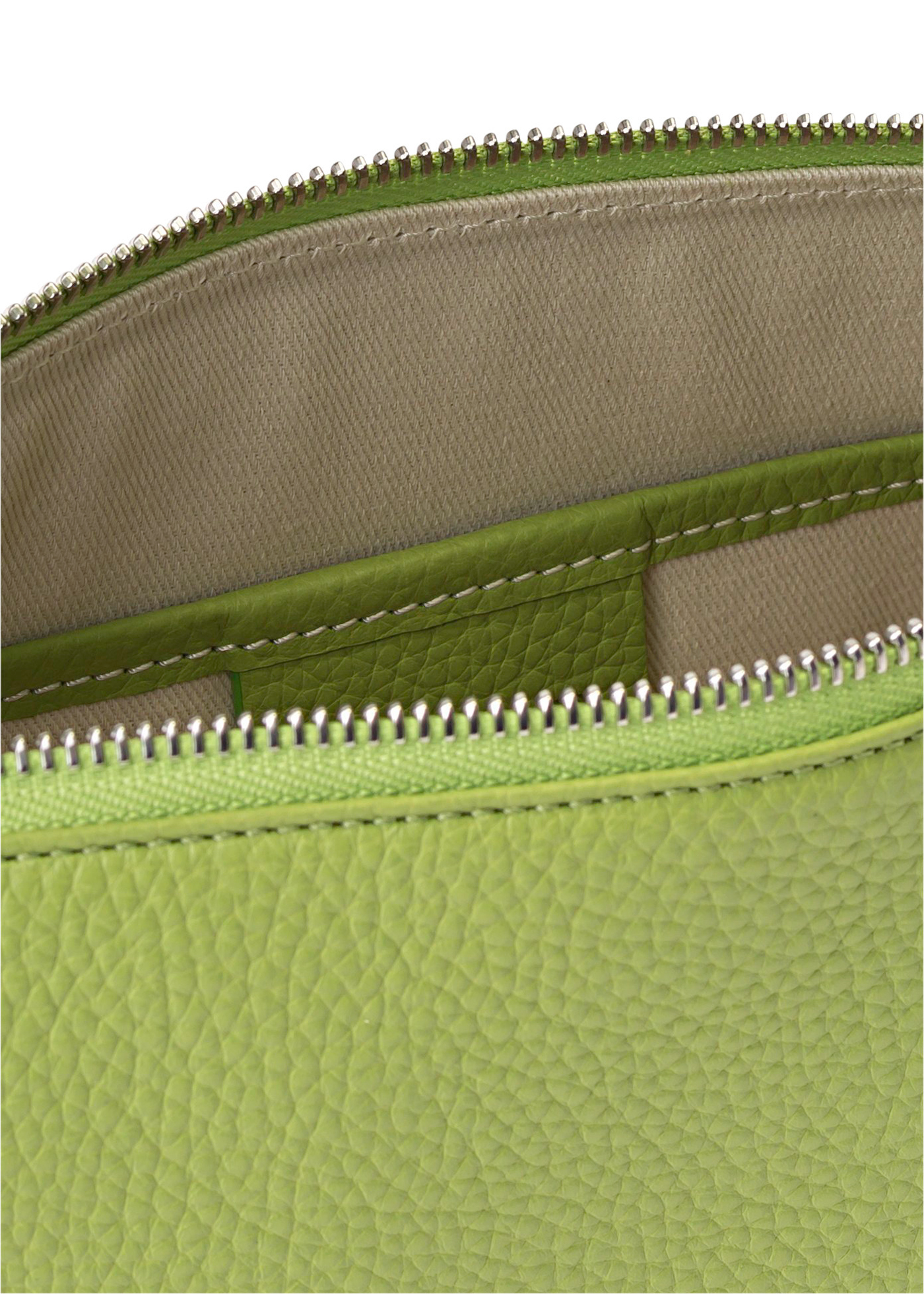 Mechi Lime Green Flat Grain Leather image number 3