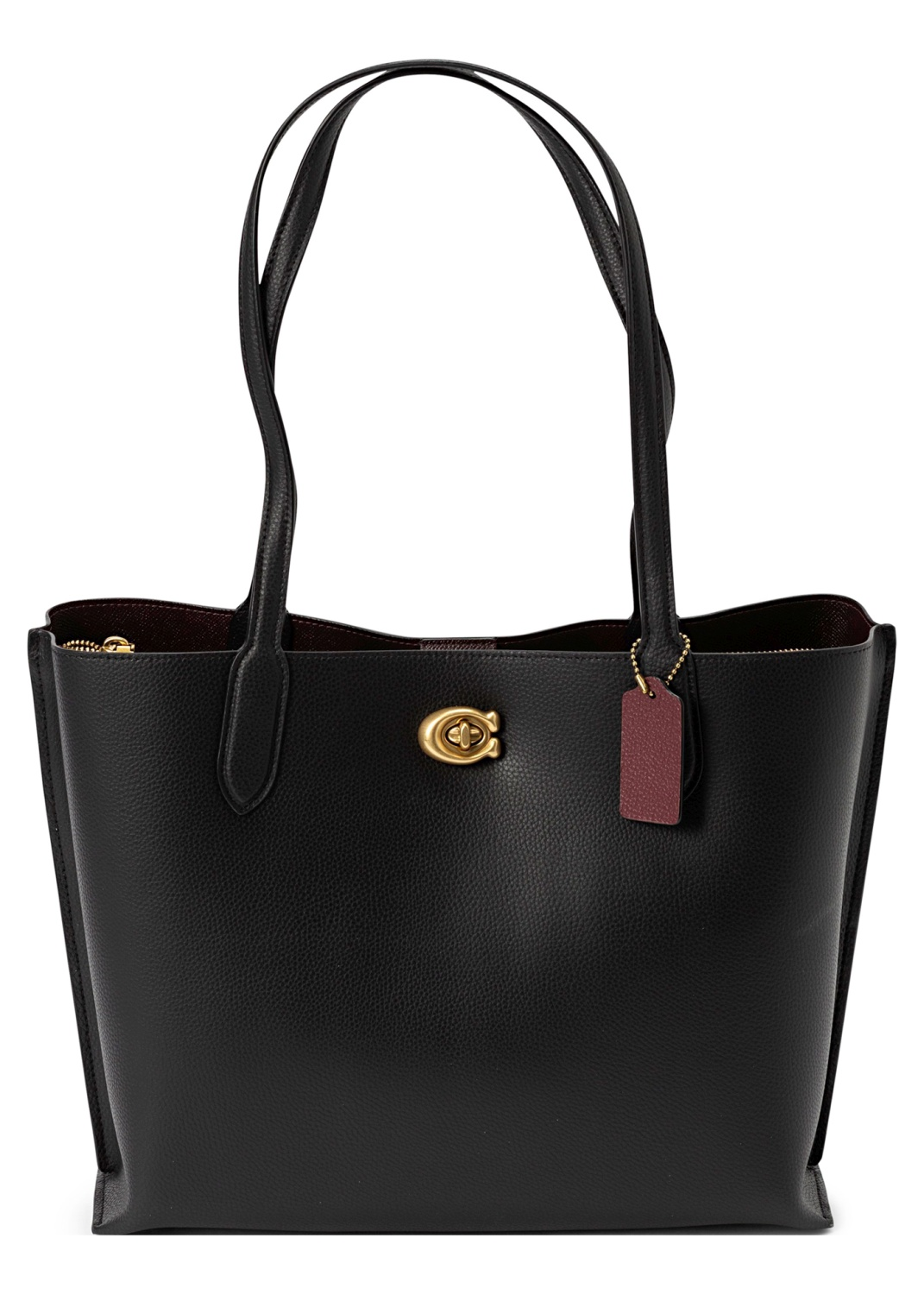 polished pebble leather willow tote image number 0