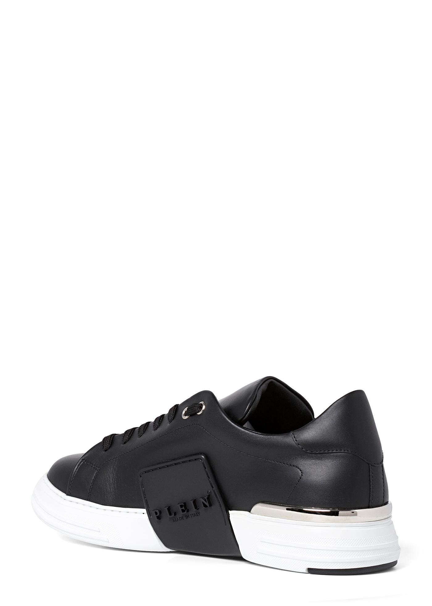 Leather Lo-Top Sneakers metal Phantom Platinum image number 2