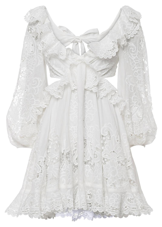 Lulu Scallop Mini Dress image number 0