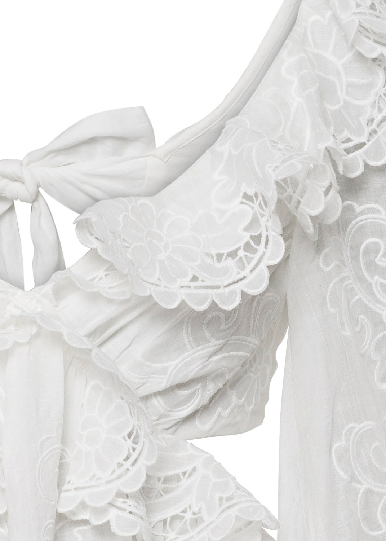 Lulu Scallop Mini Dress image number 2