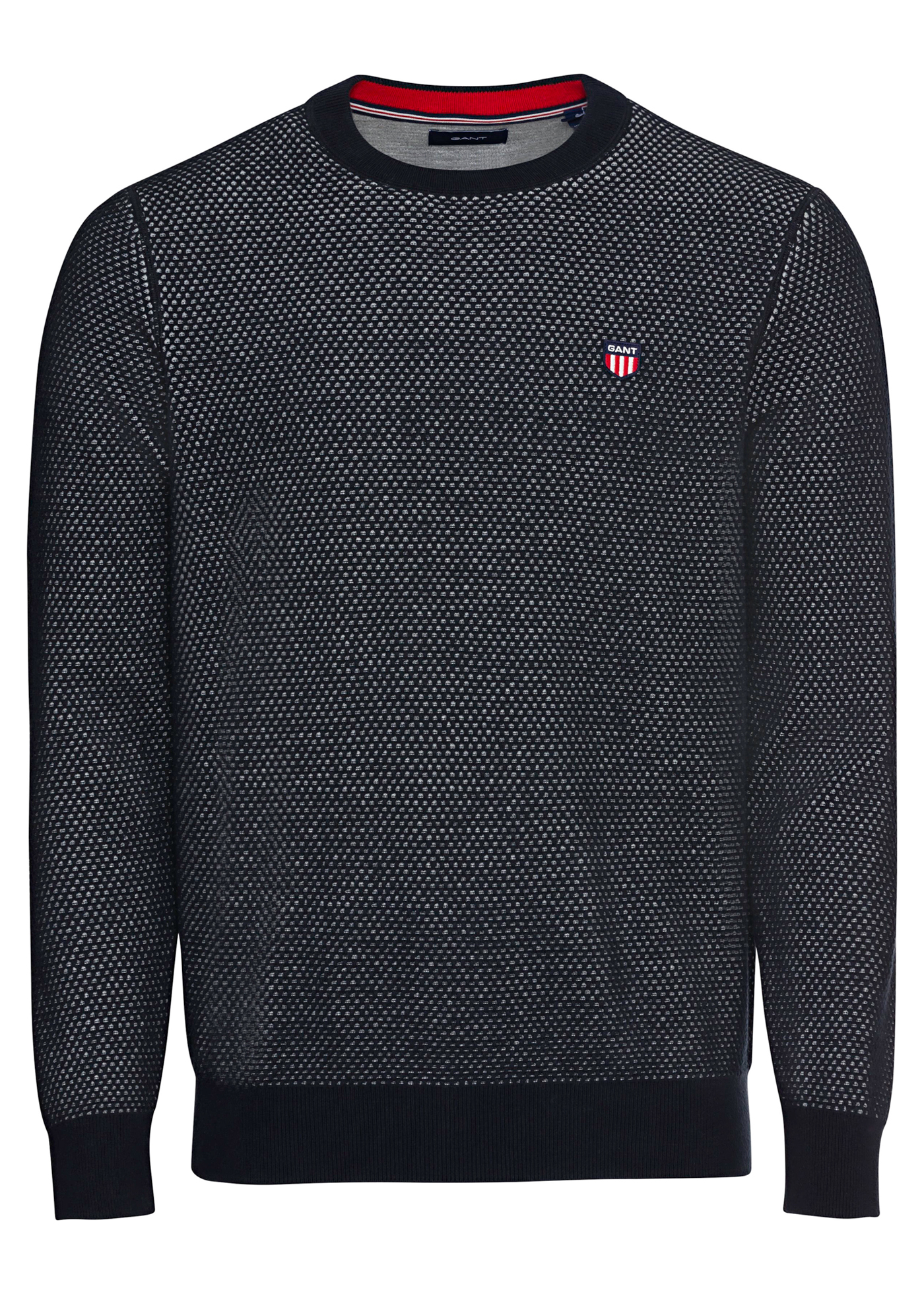 TWO TONE TEXTURE C-NECK image number 0