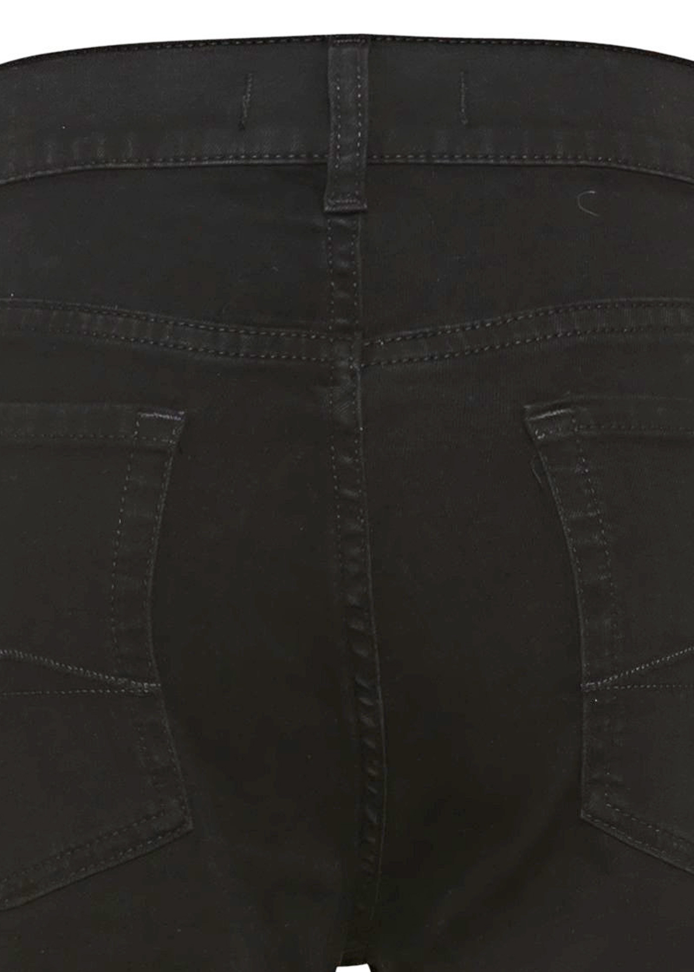 THE STRAIGHT CROP Bair Rinsed Black with Exposed Buttons image number 3