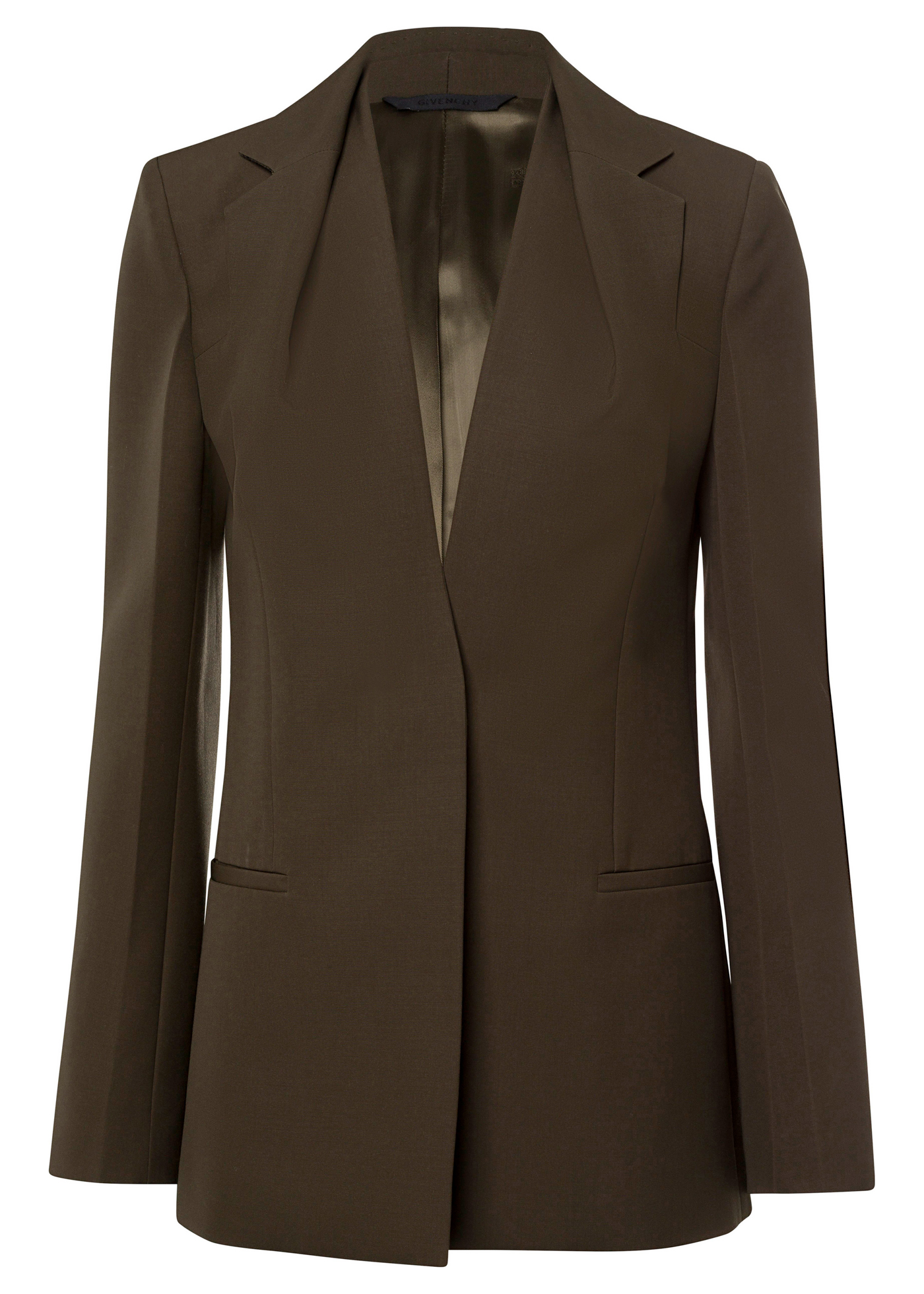 TAILORED JACKET W/ DRAPPED COLLAR image number 0