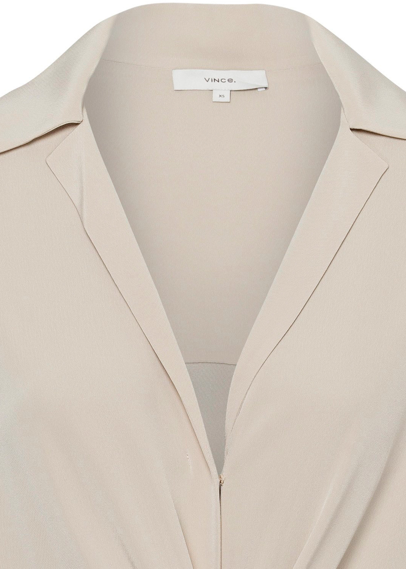 L/S SHAPED COLLAR TIE FRONT DRESS / L/S SHAPED COLLAR TIE FR image number 2