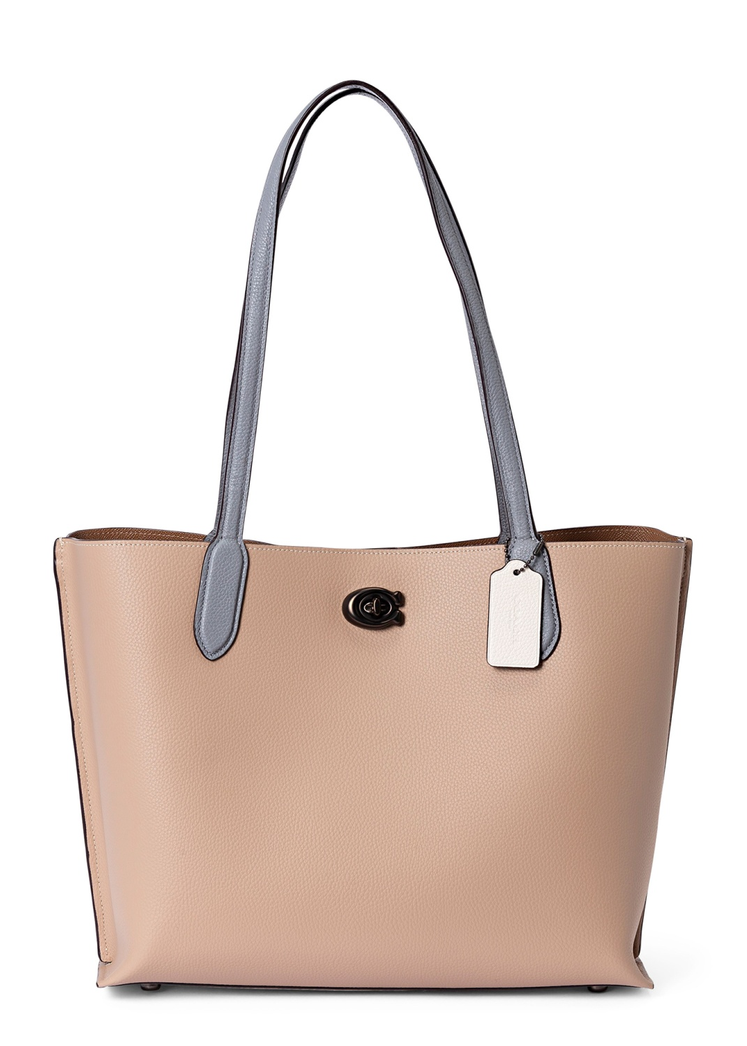 colorblock leather willow tote image number 0