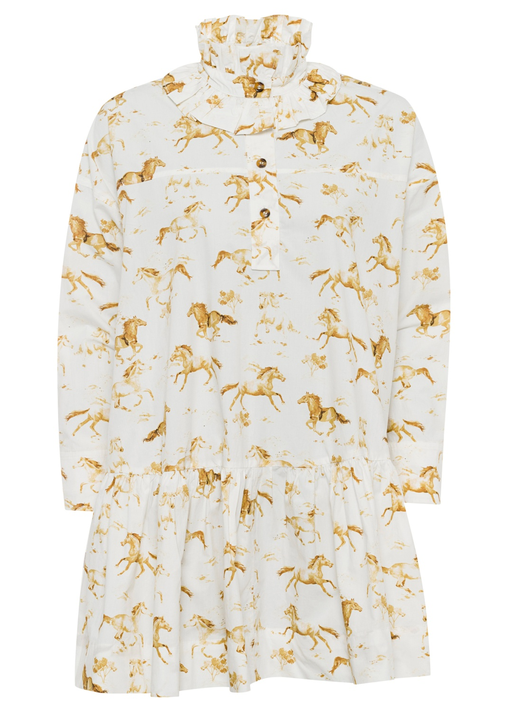 Printed Cotton Poplin Dress image number 0