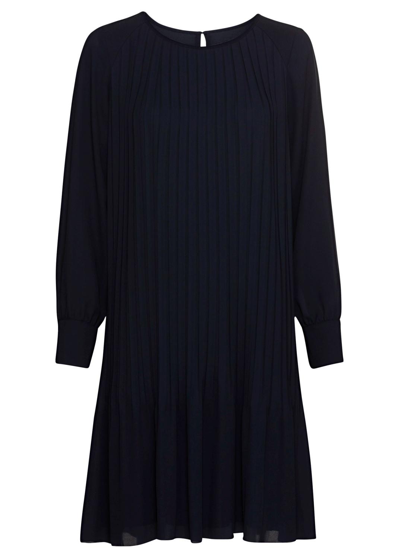Langarm-Plissee-Kleid image number 0