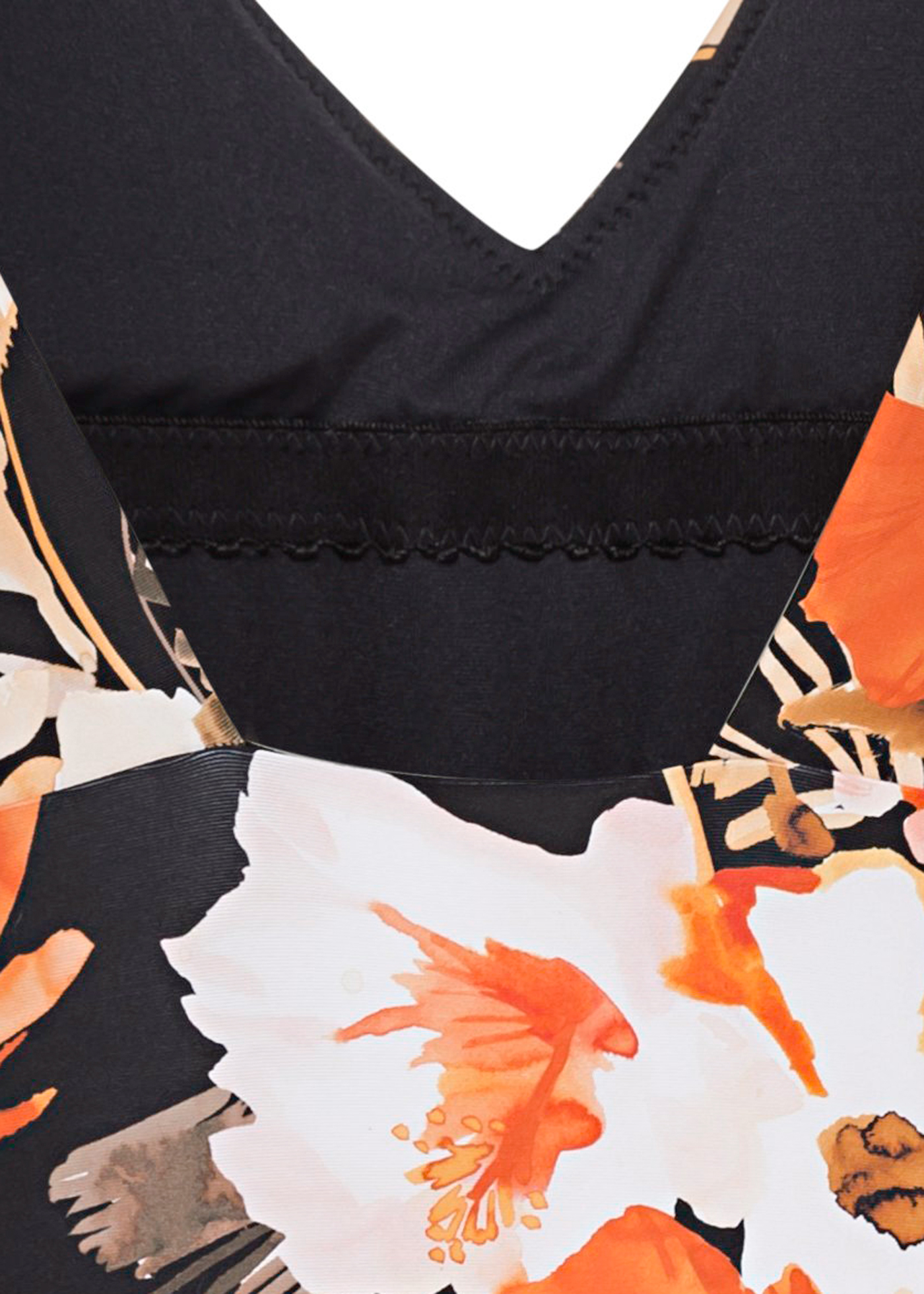 Bora Bora Flora V Neck One Piece image number 3