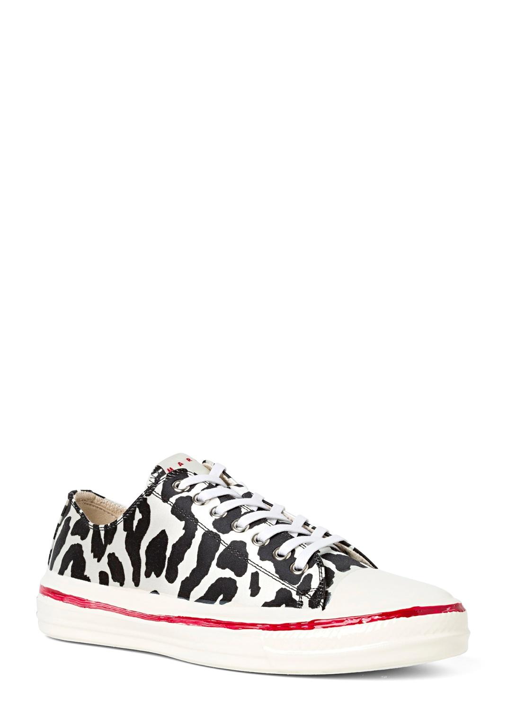 Low Top Sneaker Zebra Print image number 1