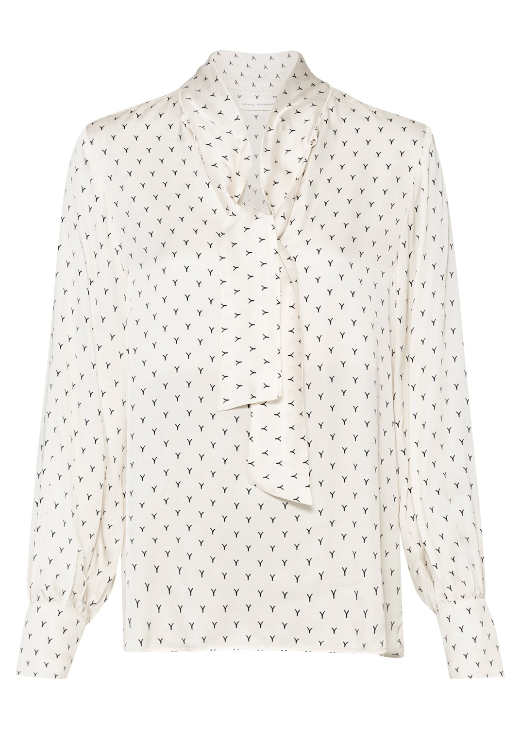 BLOUSE WITH BOW AND VOLUME SLEEVES image number 0