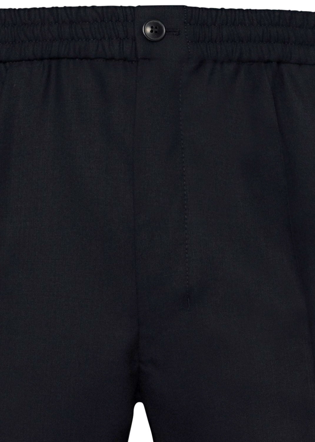 ELASTICIZED WAIST CROPPD FIT TROUSERS image number 2