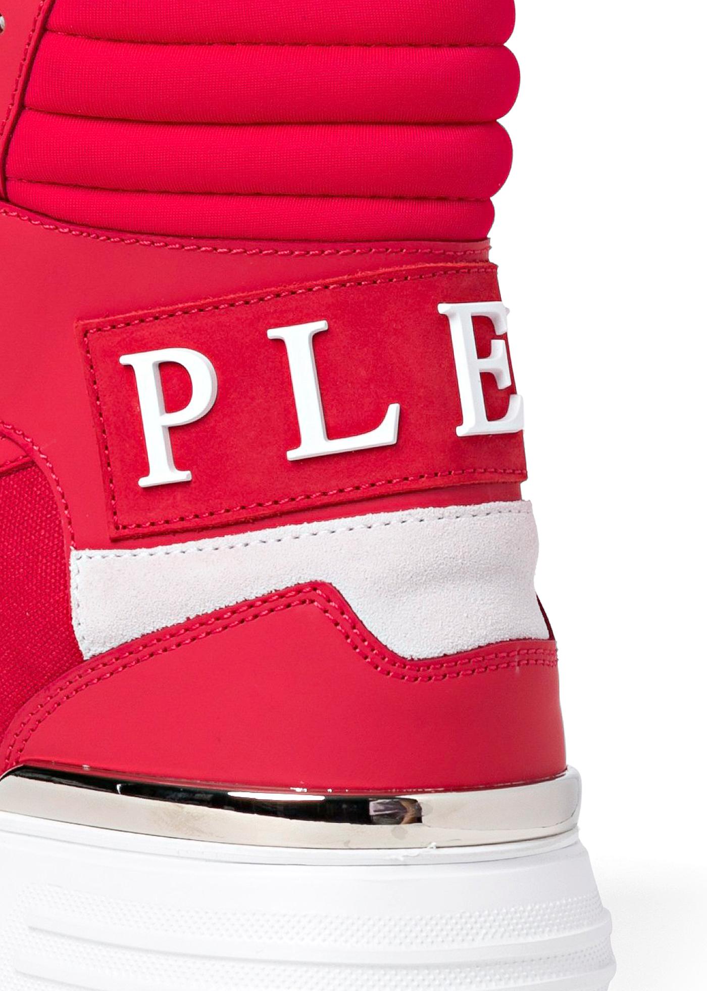 PHANTOM KICK$ Hi-Top Sneakers mix materials image number 3