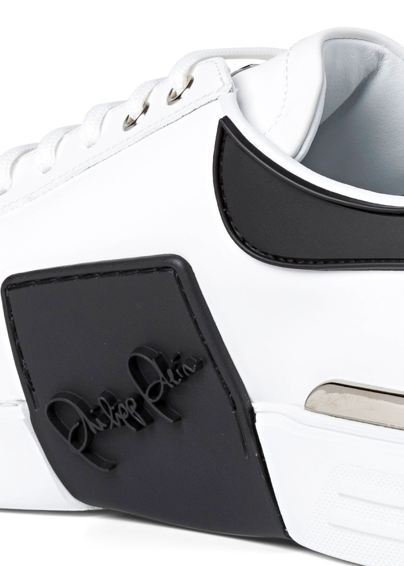 Rubber Leather PHANTOM KICK$ Lo-Top Sneakers Iconic Plein image number 3