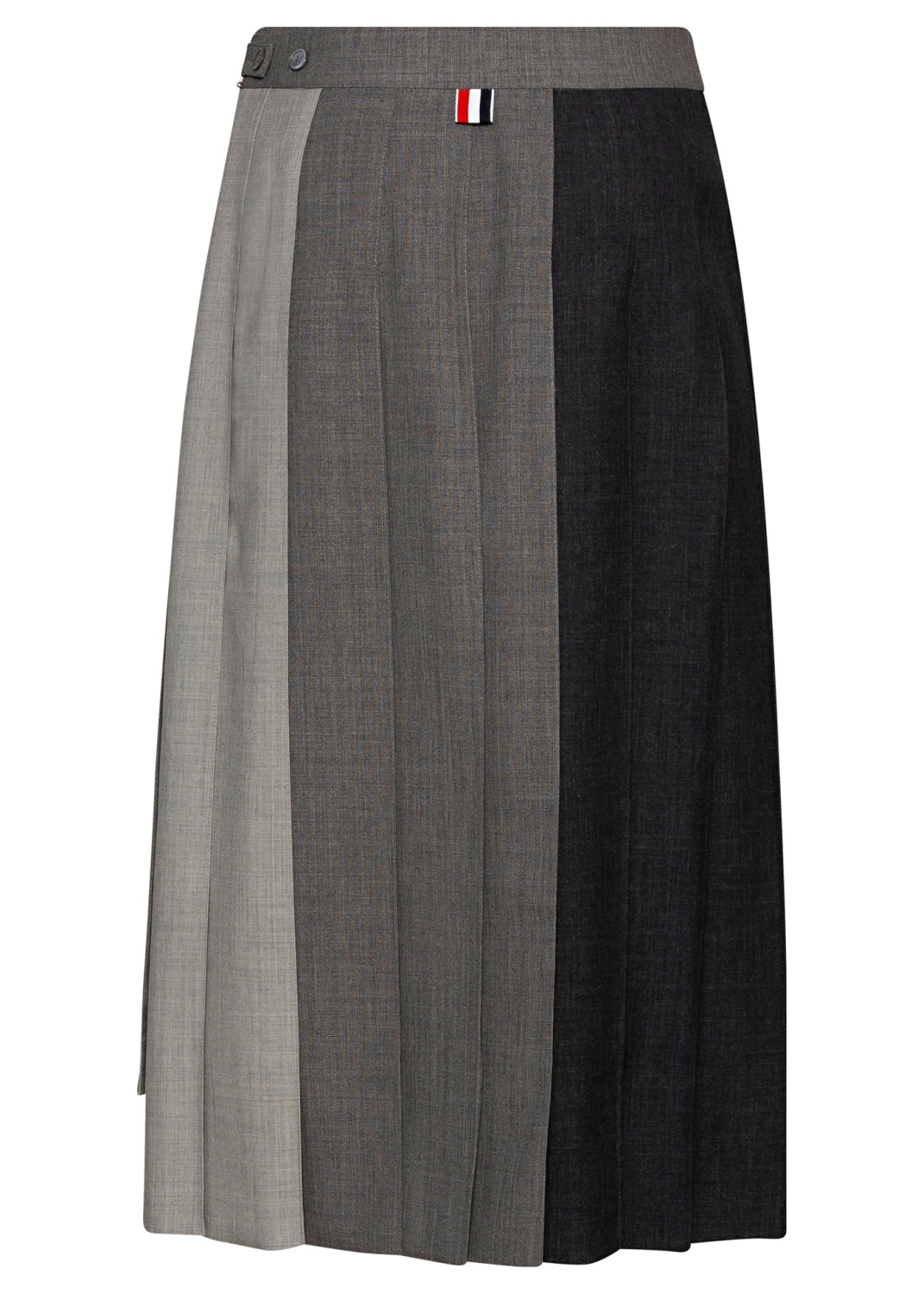 3 BELOW KNEE DROPPED BACK PLEATED SKIRT image number 1