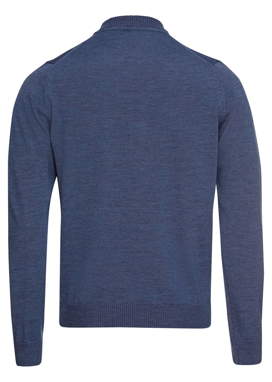 Zip cardigan,baseball,Merino wool image number 1