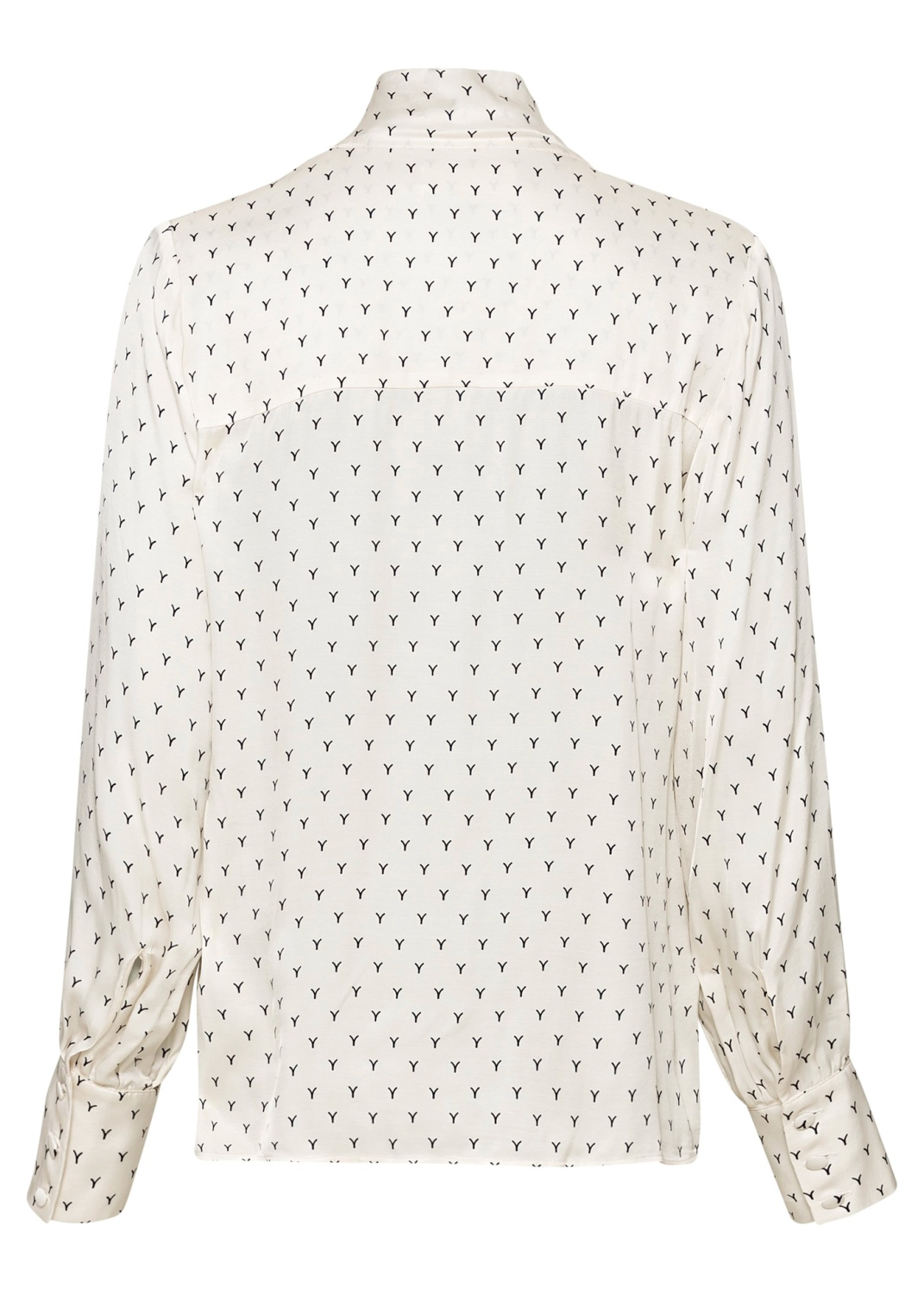 BLOUSE WITH BOW AND VOLUME SLEEVES image number 1